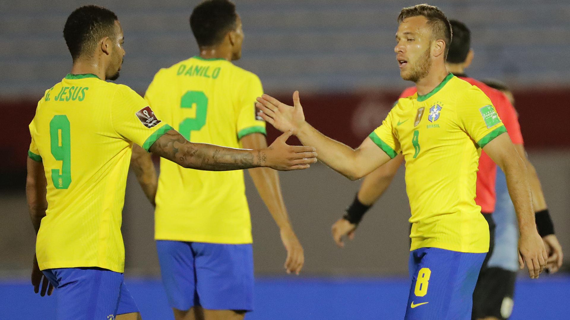 Arthur enjoys first international goal as Brazil stay perfect