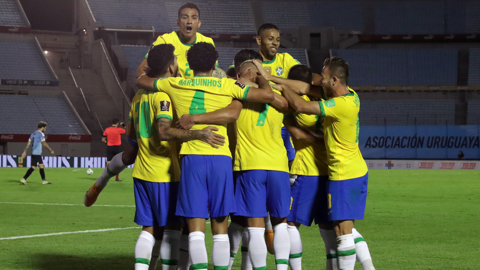 Uruguay 0-2 Brazil: Arthur, Richarlison help keep Tite's men perfect