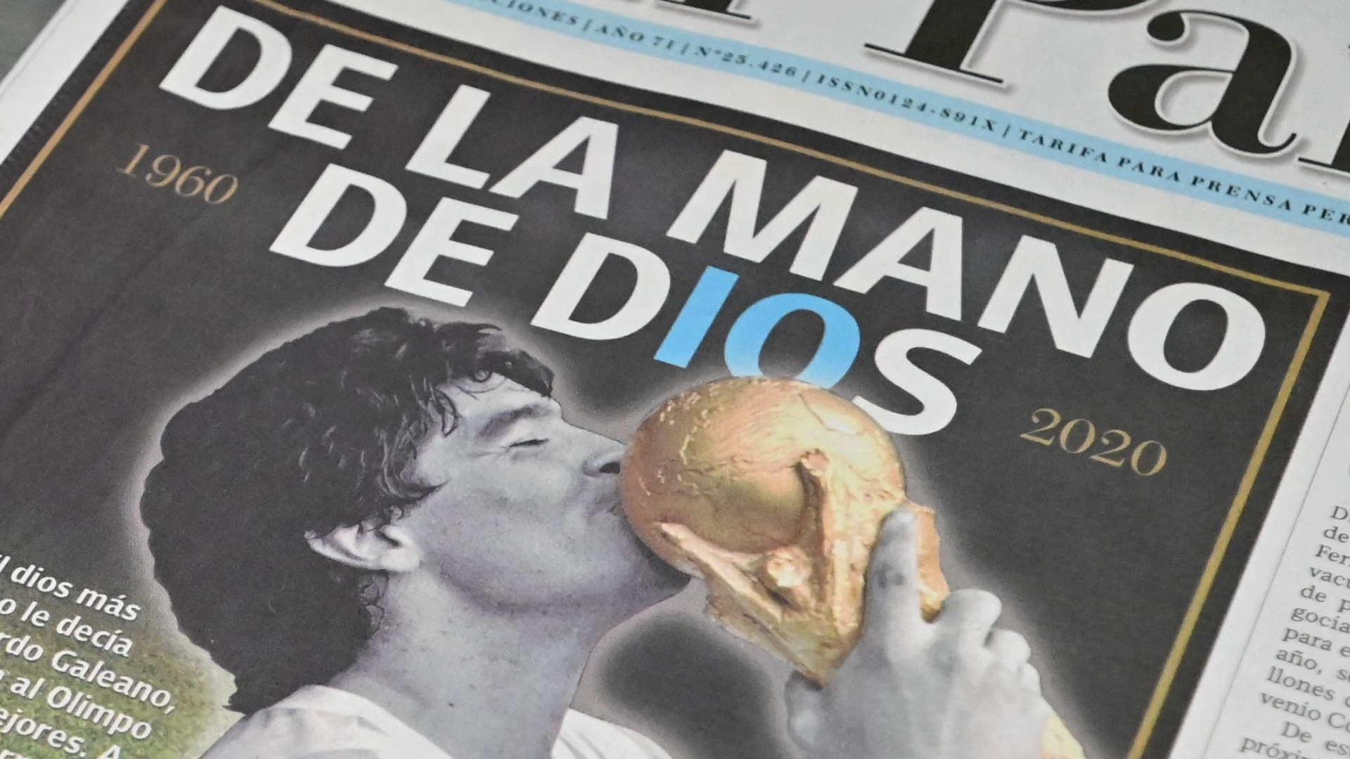 Diego Maradona dies: Newspaper front pages pay tribute to a legend