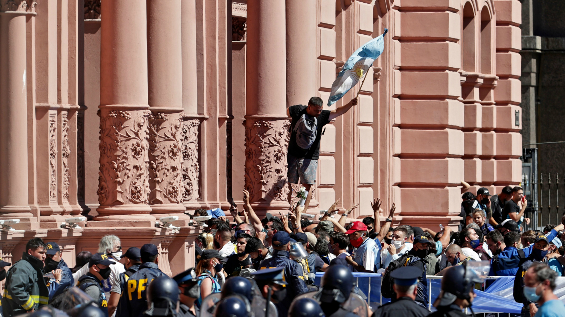 Diego Maradona dies: Mourners and police clash at Argentina great's funeral