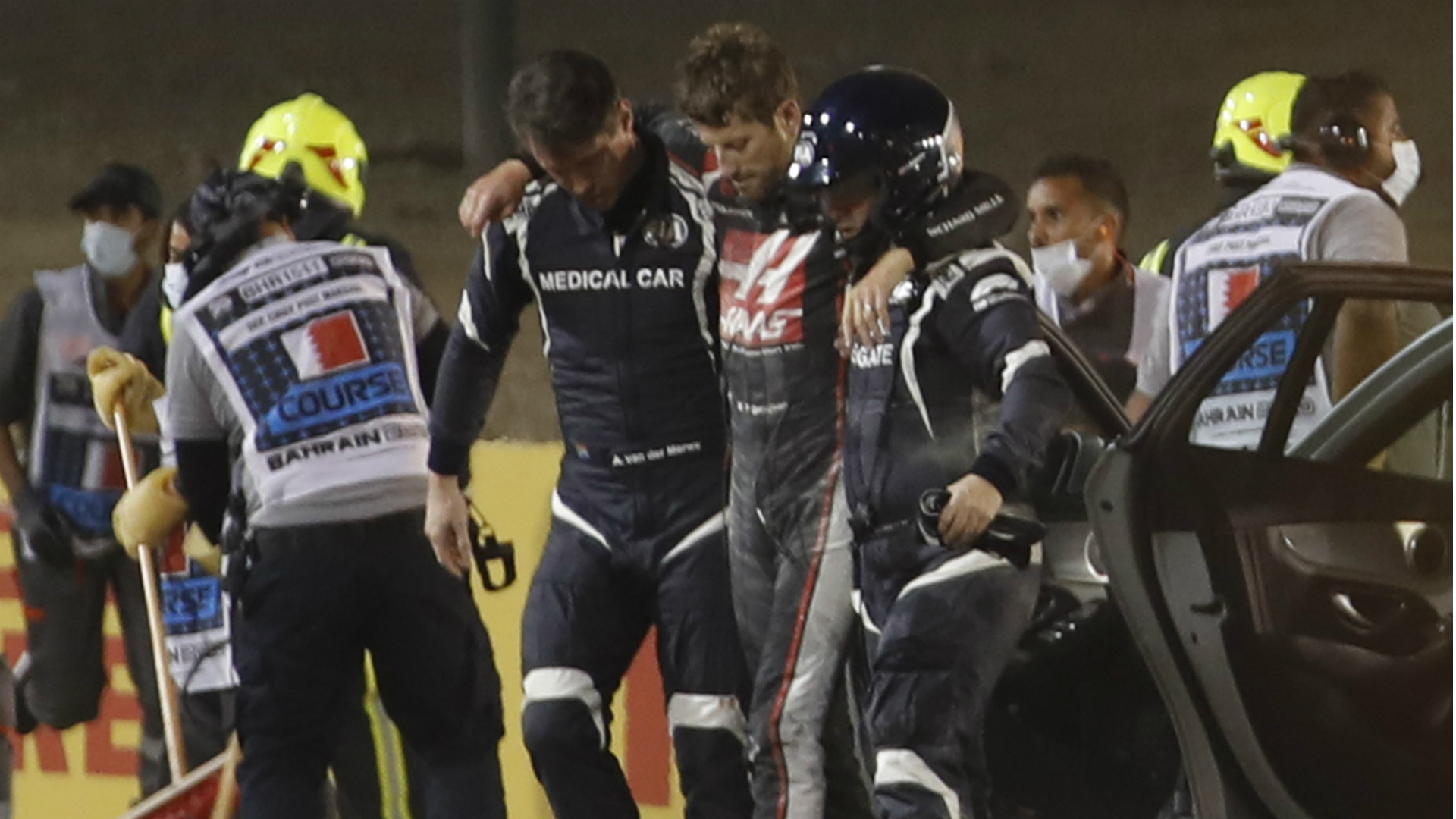 Our lives are on the line - Hamilton relieved to see Grosjean survive extraordinary crash