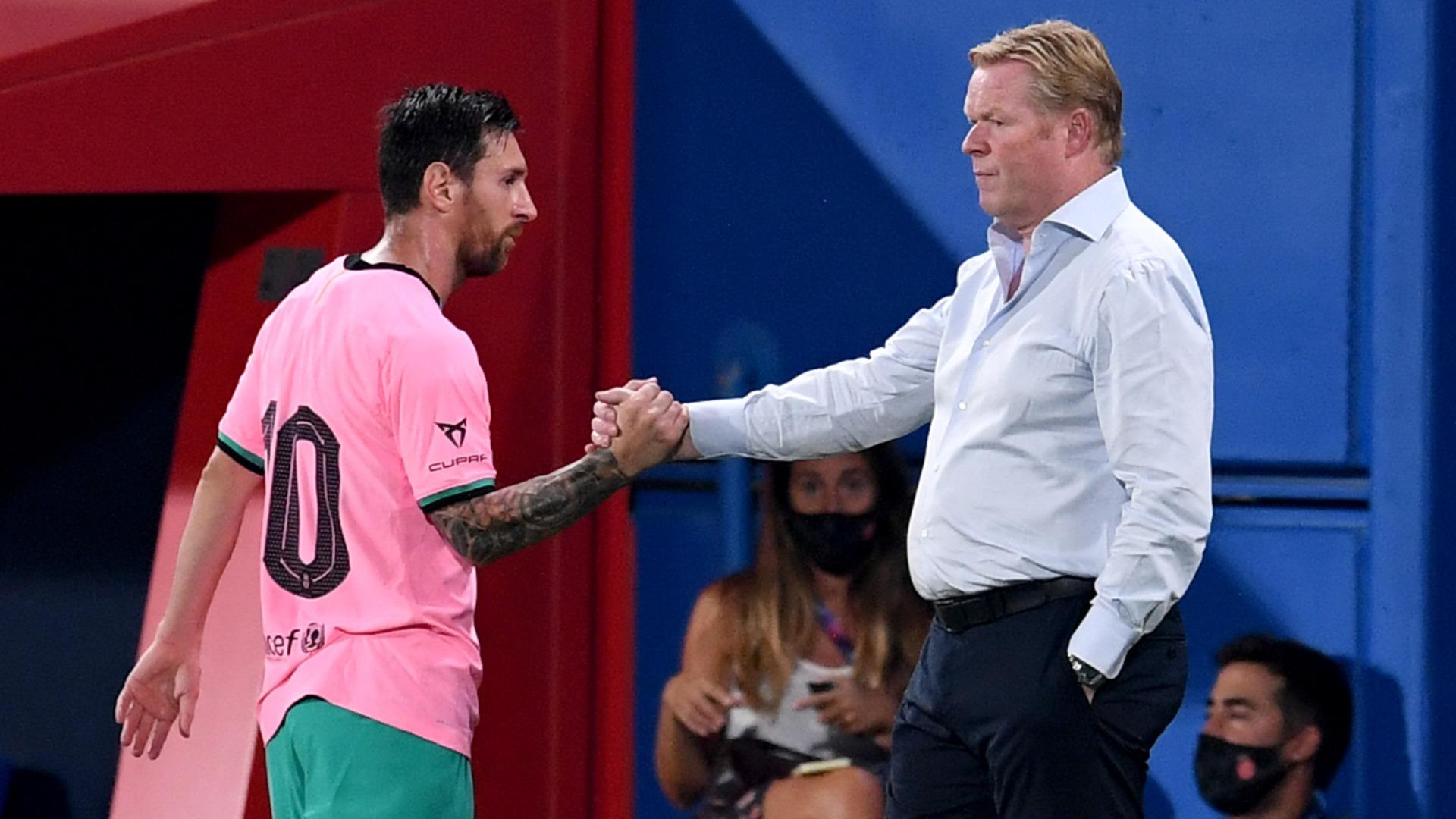 Koeman understands Messi's anger over Suarez exit but insists striker left of own volition