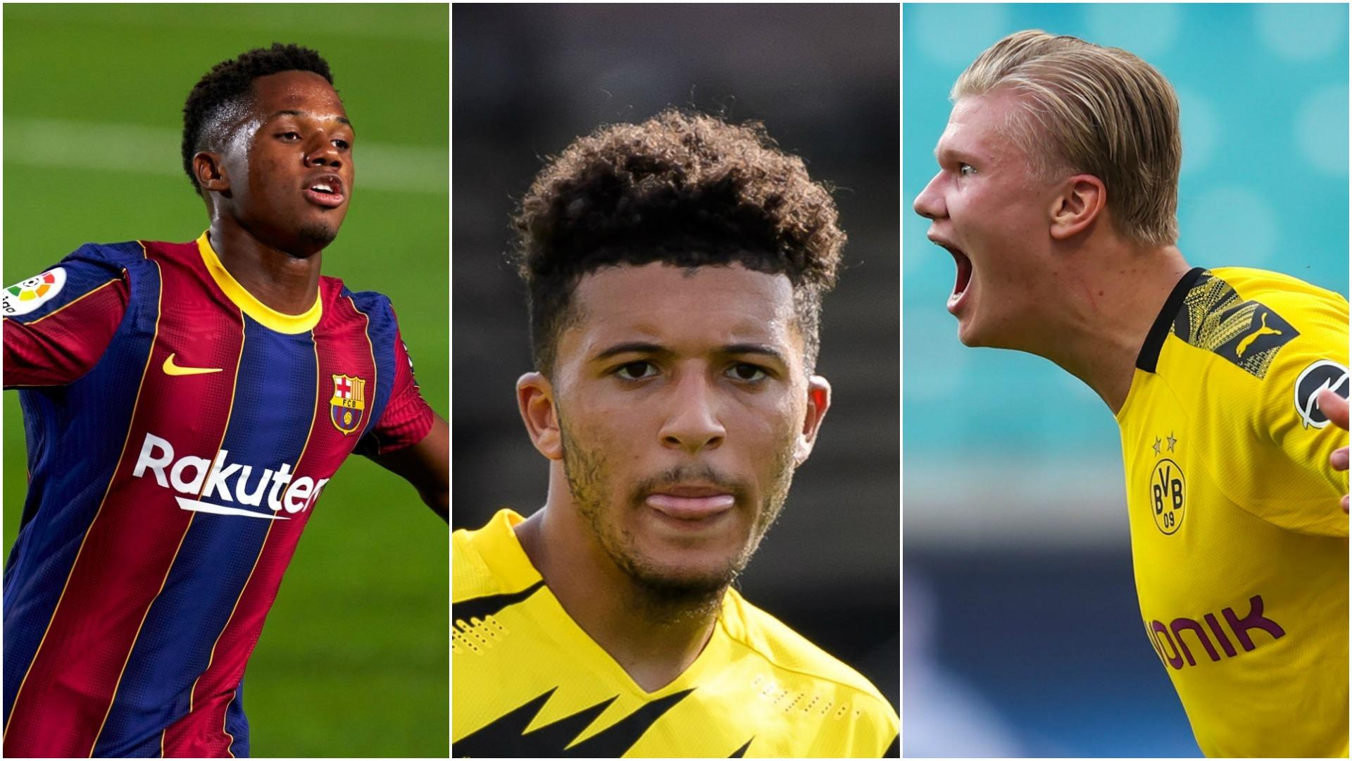 Haaland, Sancho & Fati lead 20-man shortlist for Golden Boy award