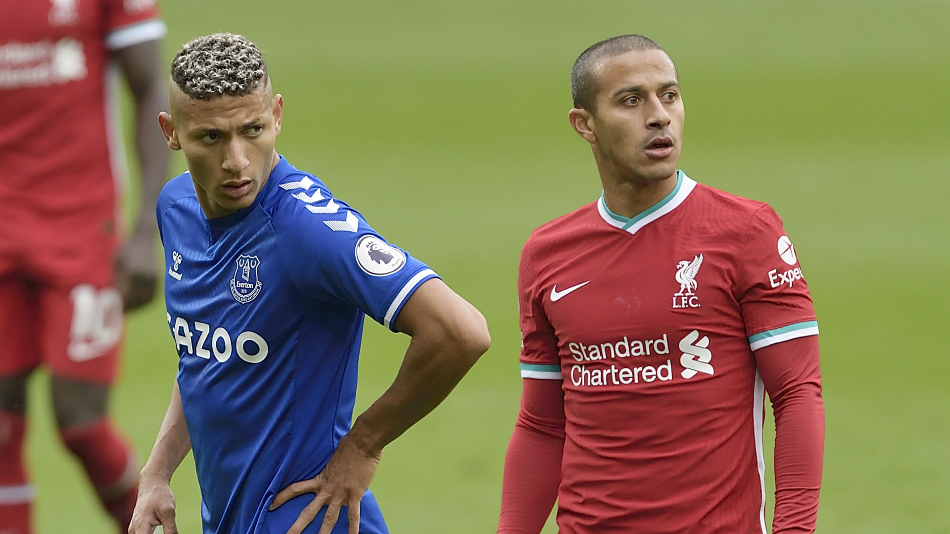 Richarlison apologises to Thiago after Merseyside derby red card