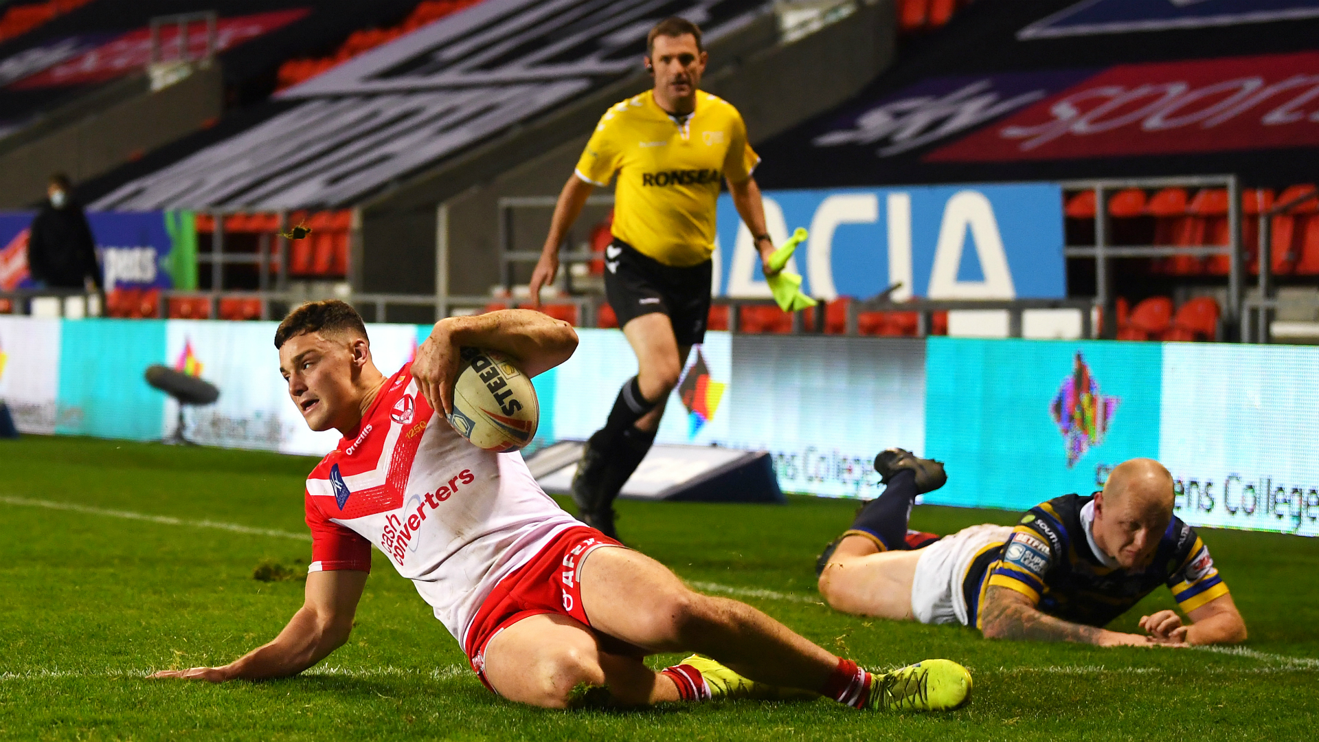 Simm and French the hat-trick heroes in Saints and Wigan routs