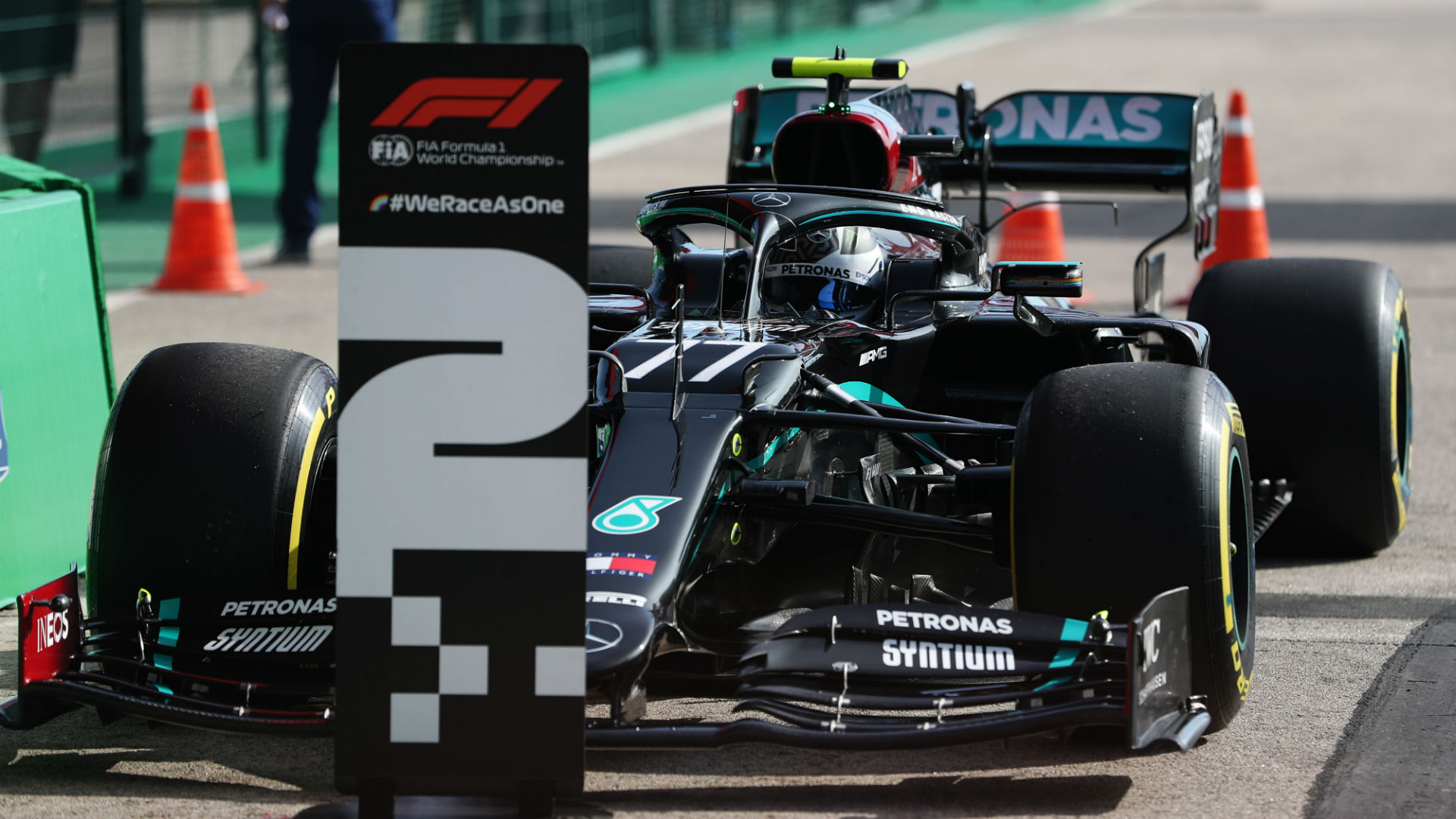 F1 2020: Bottas rues choosing different strategy to pole-sitter Hamilton