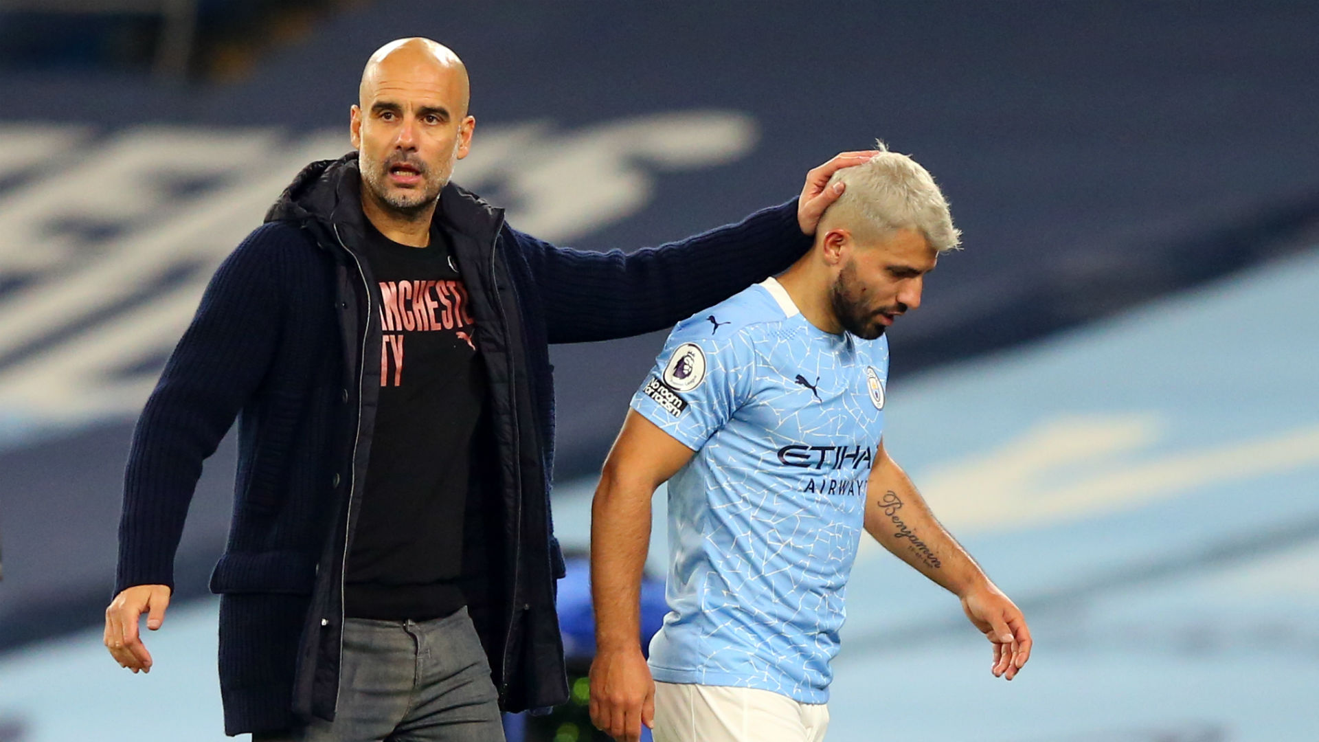 Guardiola regrets not buying striker with Aguero facing up to a month out