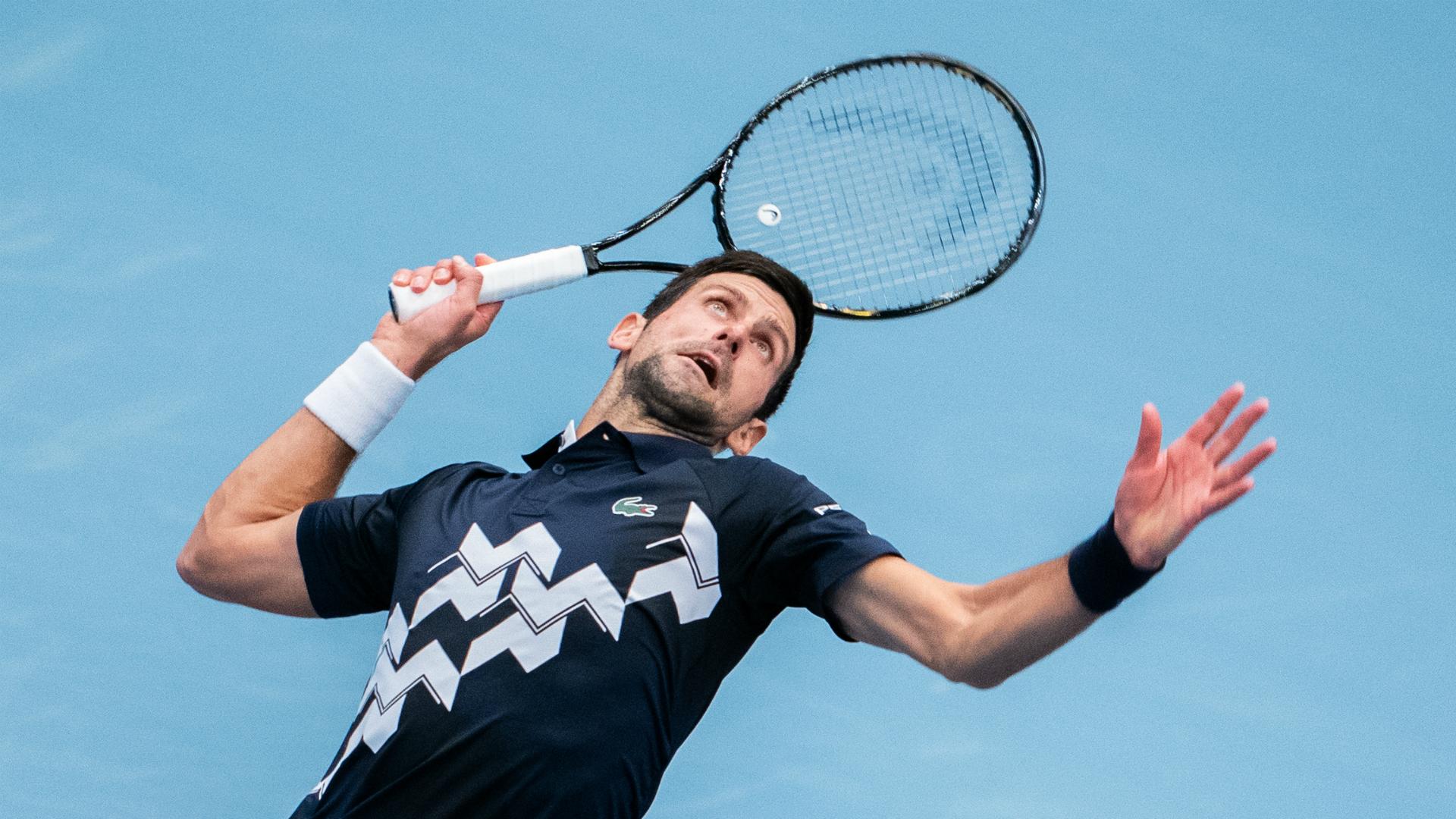 Djokovic battles past compatriot Krajinovic in Vienna