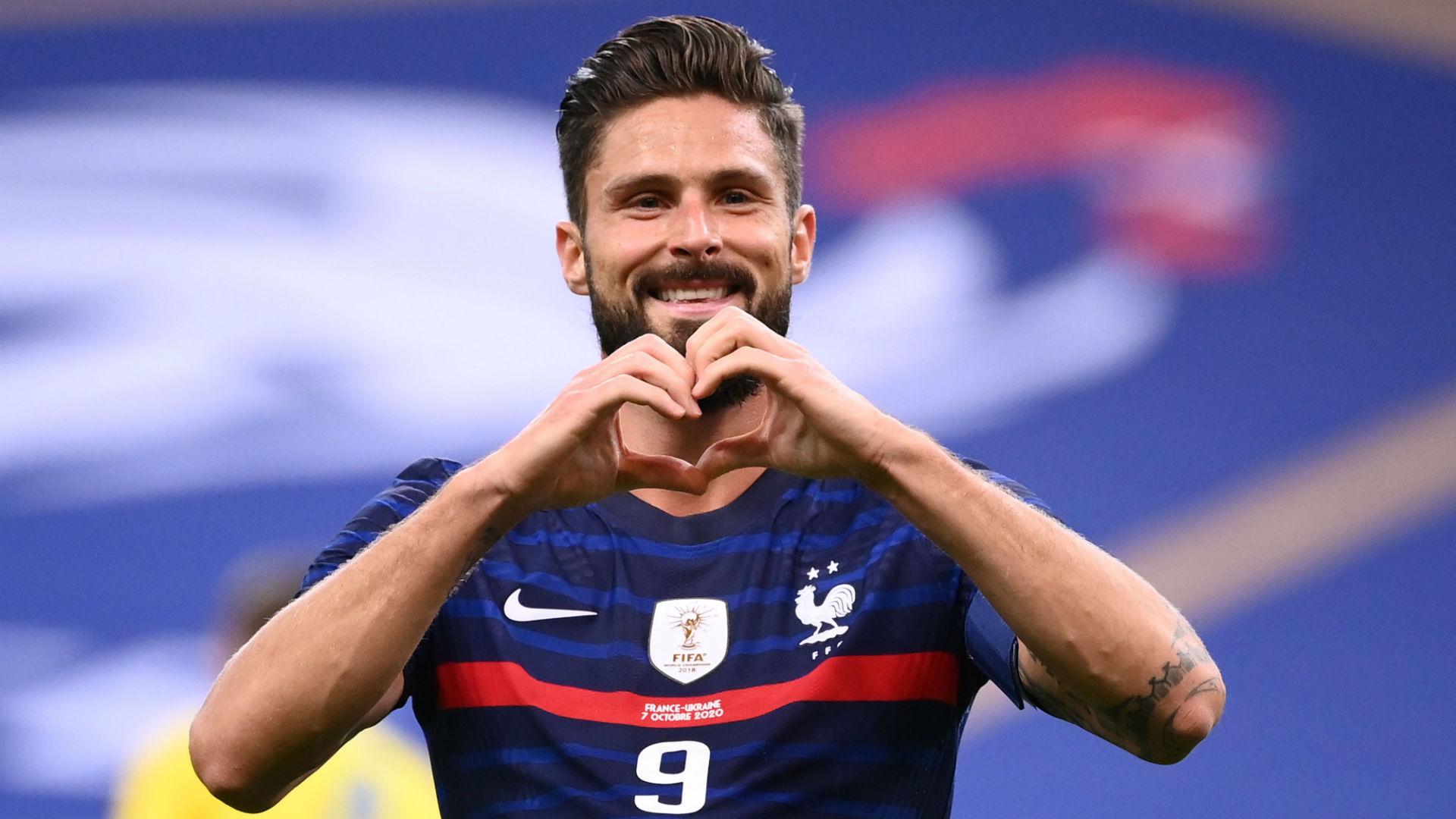France 7-1 Ukraine: Centurion Giroud caps landmark appearance with double