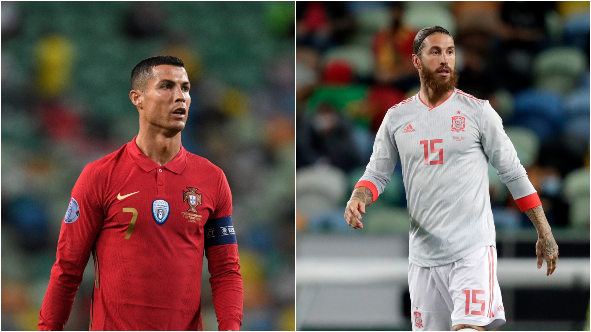 Friends reunited – Ronaldo, Ramos and Pepe reconnect after Portugal v Spain