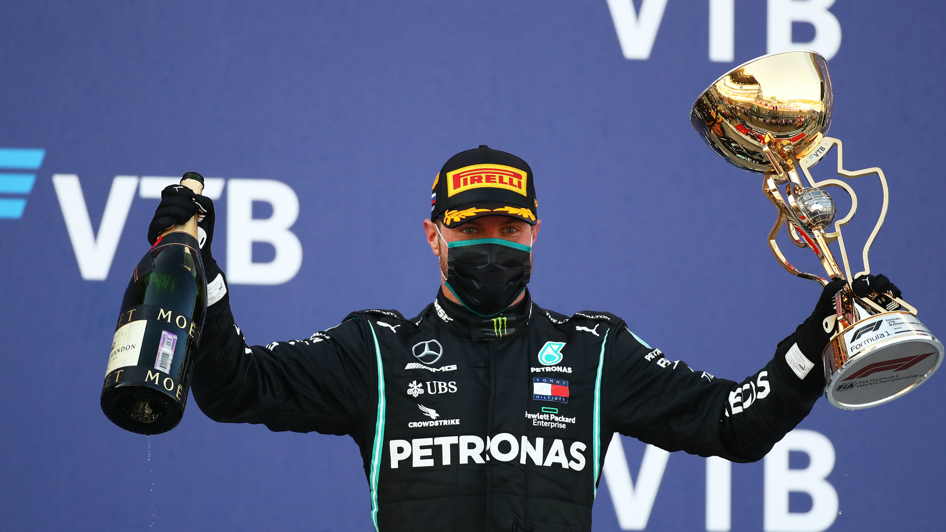 F1 2020: Bottas buzzing with Sochi win after 'massive bee' distraction