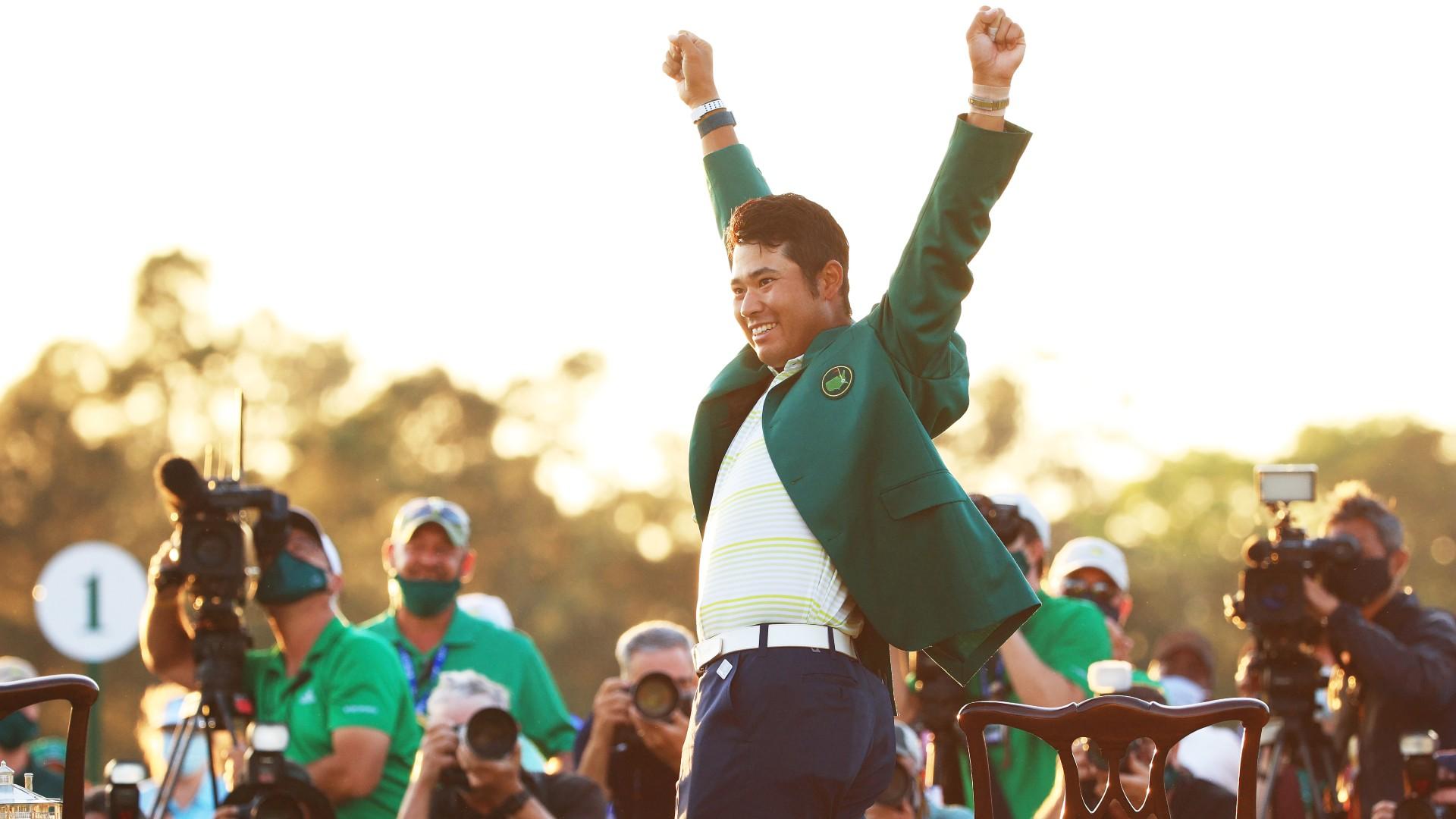 The Masters: Tiger Woods congratulates history-making Matsuyama