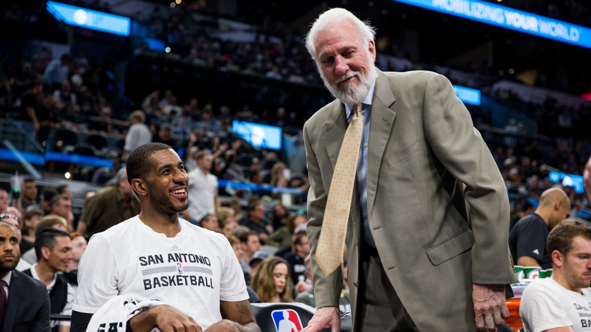 Spurs coach Popovich pays tribute to 'consummate professional' LaMarcus Aldridge