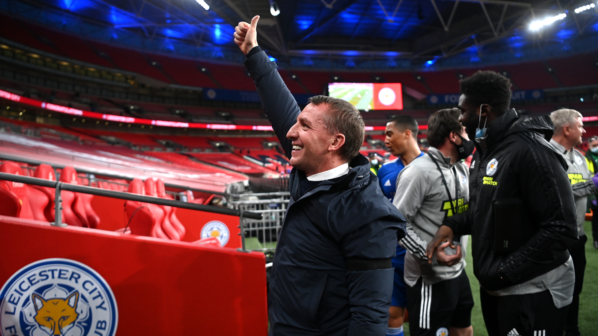 Rodgers aiming to create history after Leicester set up FA Cup final with Chelsea