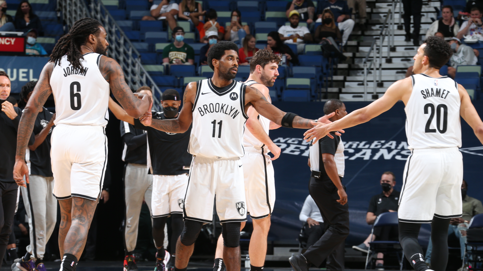 Nets coach Nash praises depth in Harden and Durant absence