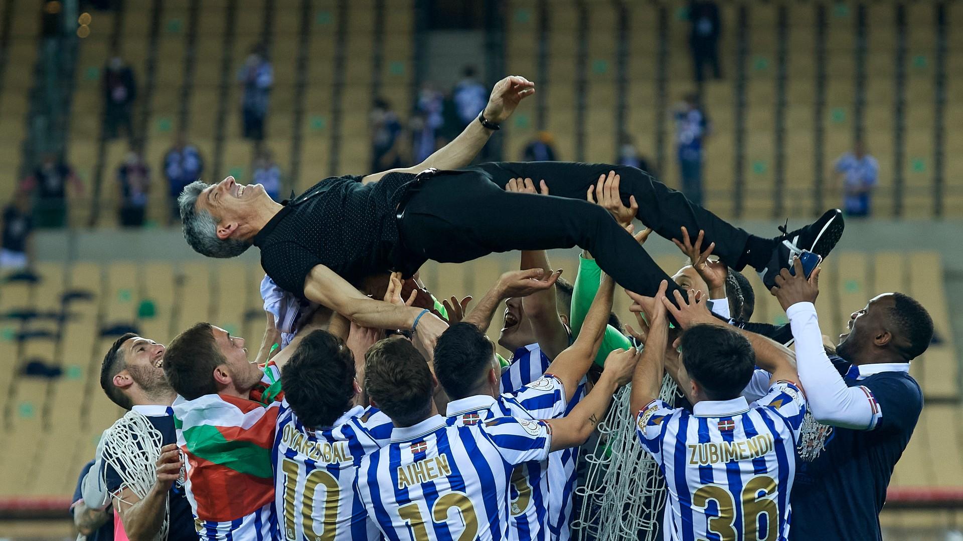 Imanol 'super proud' after Real Sociedad make history with Copa del Rey win
