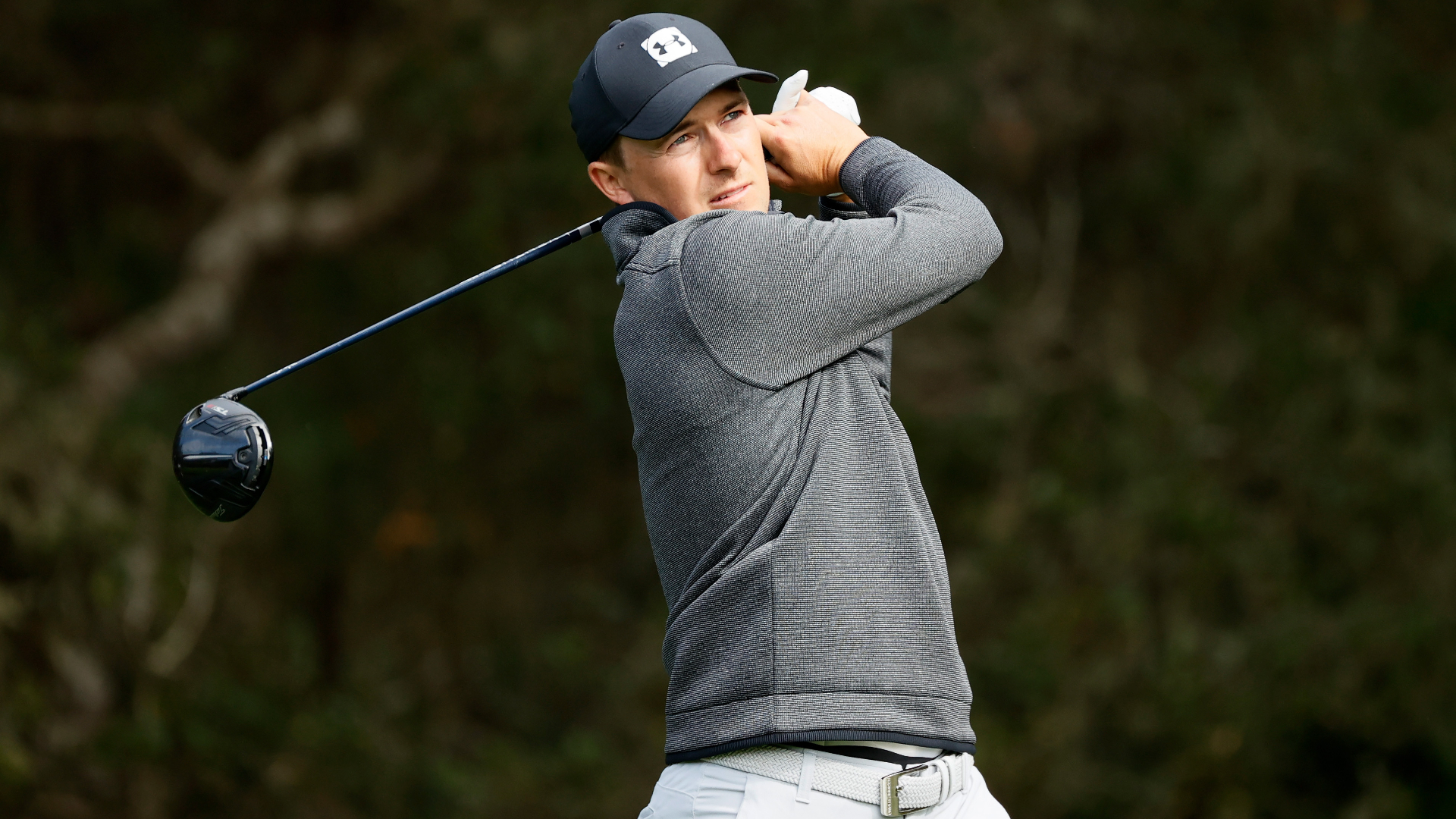 Spieth leads at halfway mark at Pebble Beach