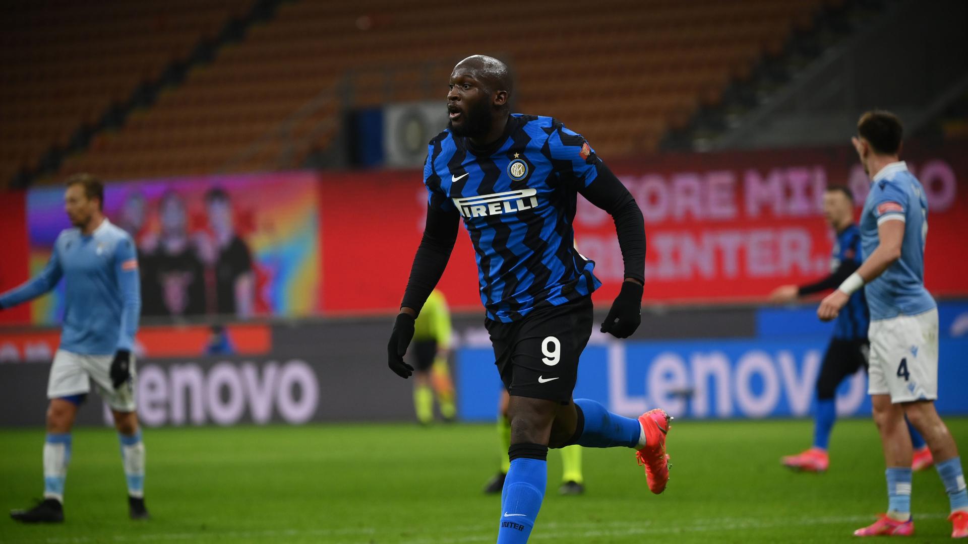 Inter 3-1 Lazio: Lukaku's brace sends Nerazzurri top of Serie A