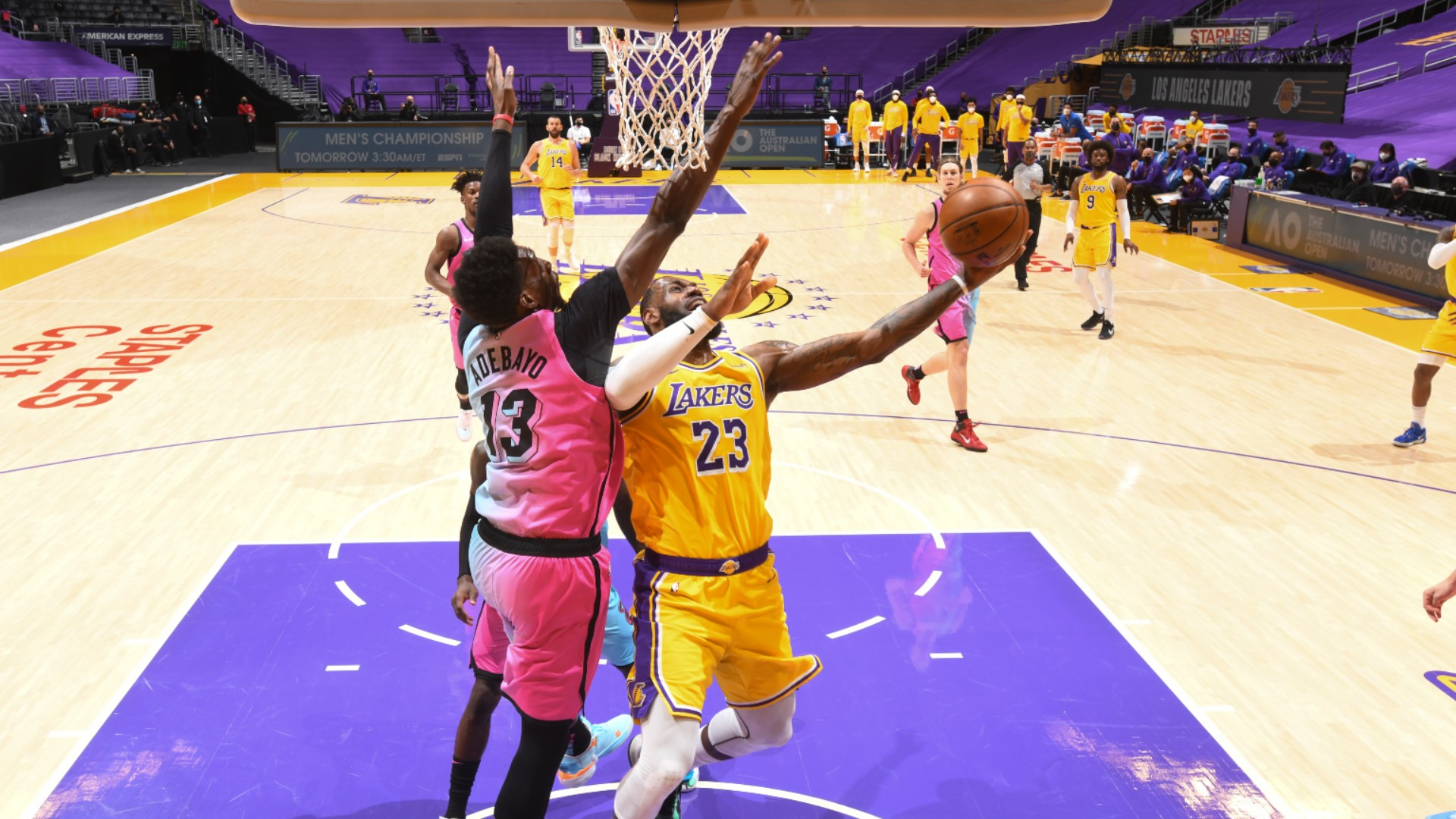 Heat sizzle as Miami pip LeBron's Lakers, Hornets buzz past Curry-less Warriors