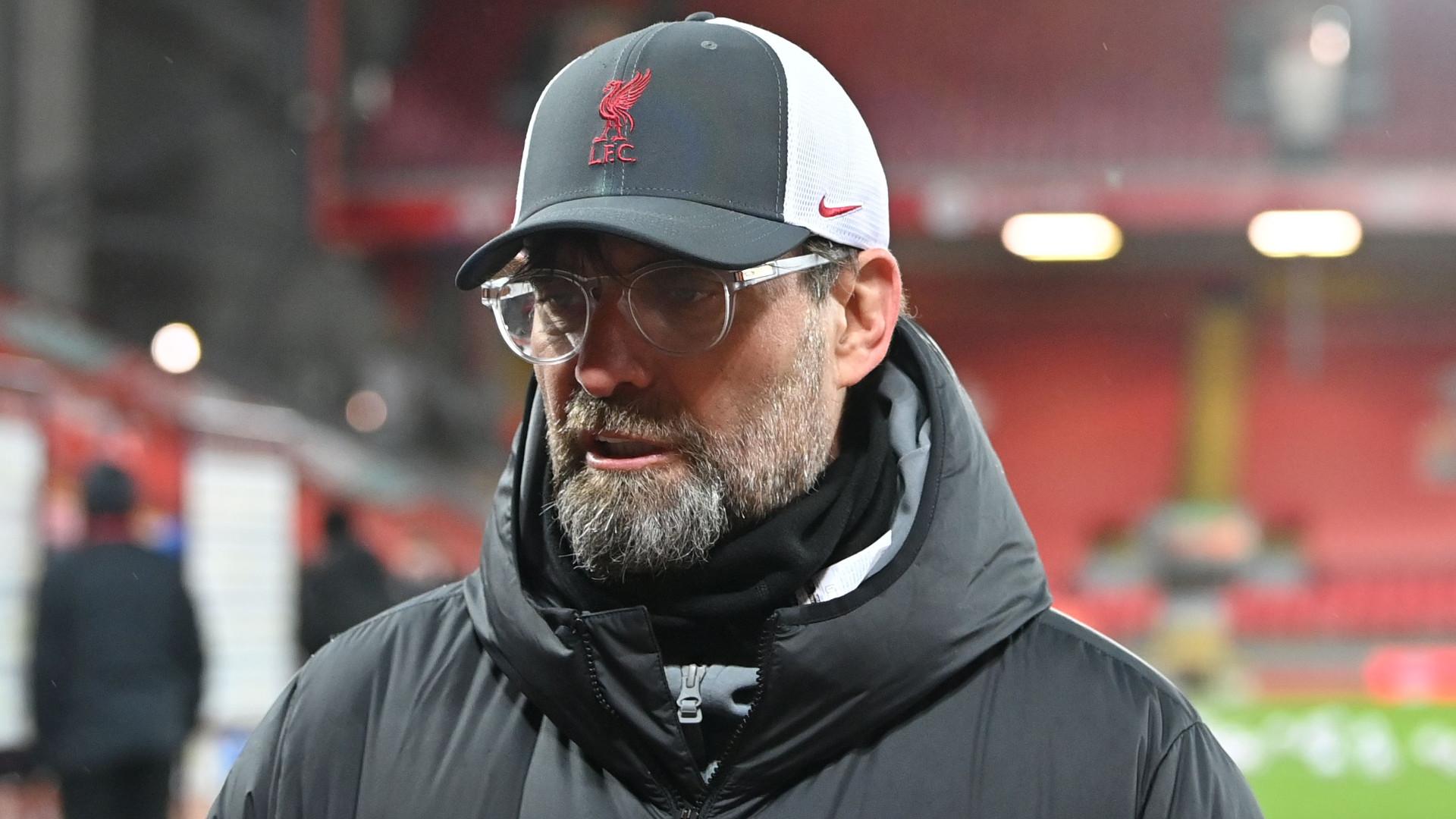 Jurgen Klopp questions Everton penalty as Liverpool slump to dismal derby defeat