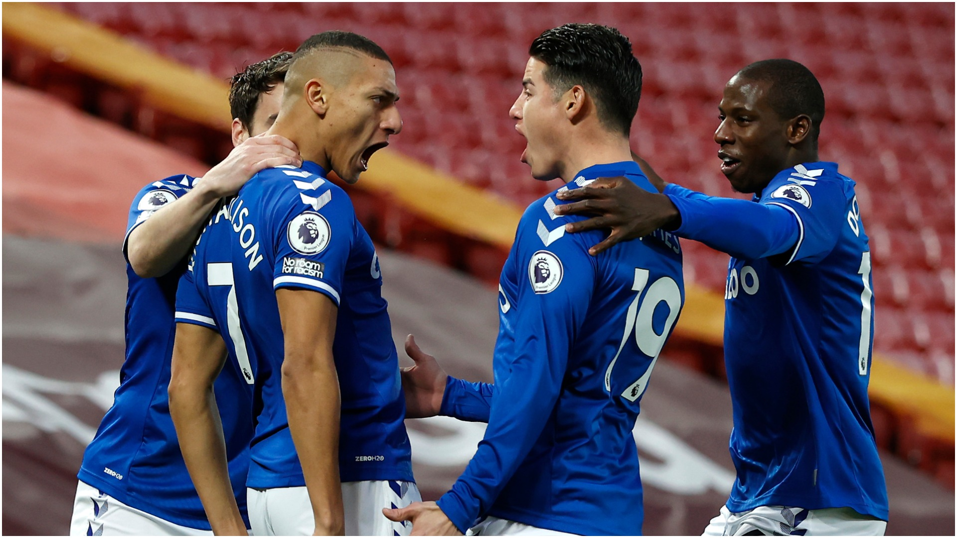Liverpool 0-2 Everton: Reds slump continues as Toffees end Anfield misery