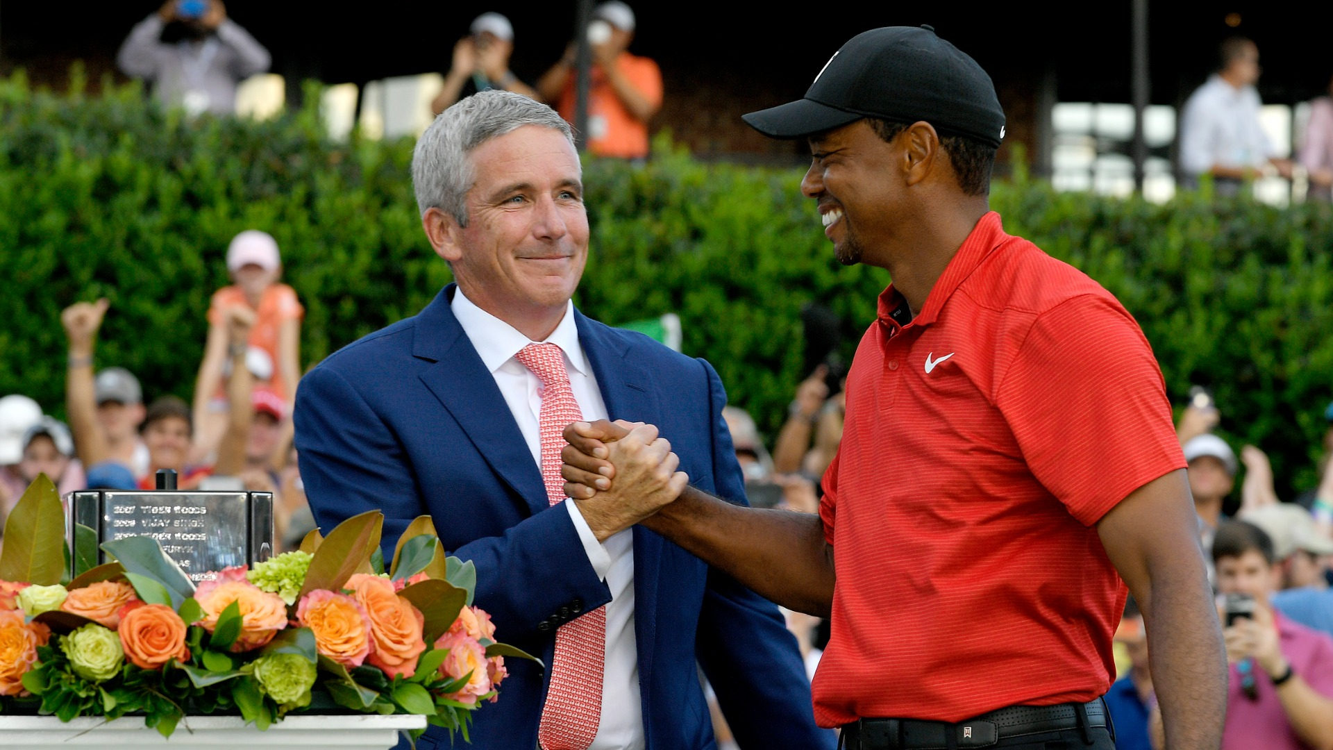 Tiger Woods in hospital:  PGA TOUR commissioner says the world will rally around golf legend