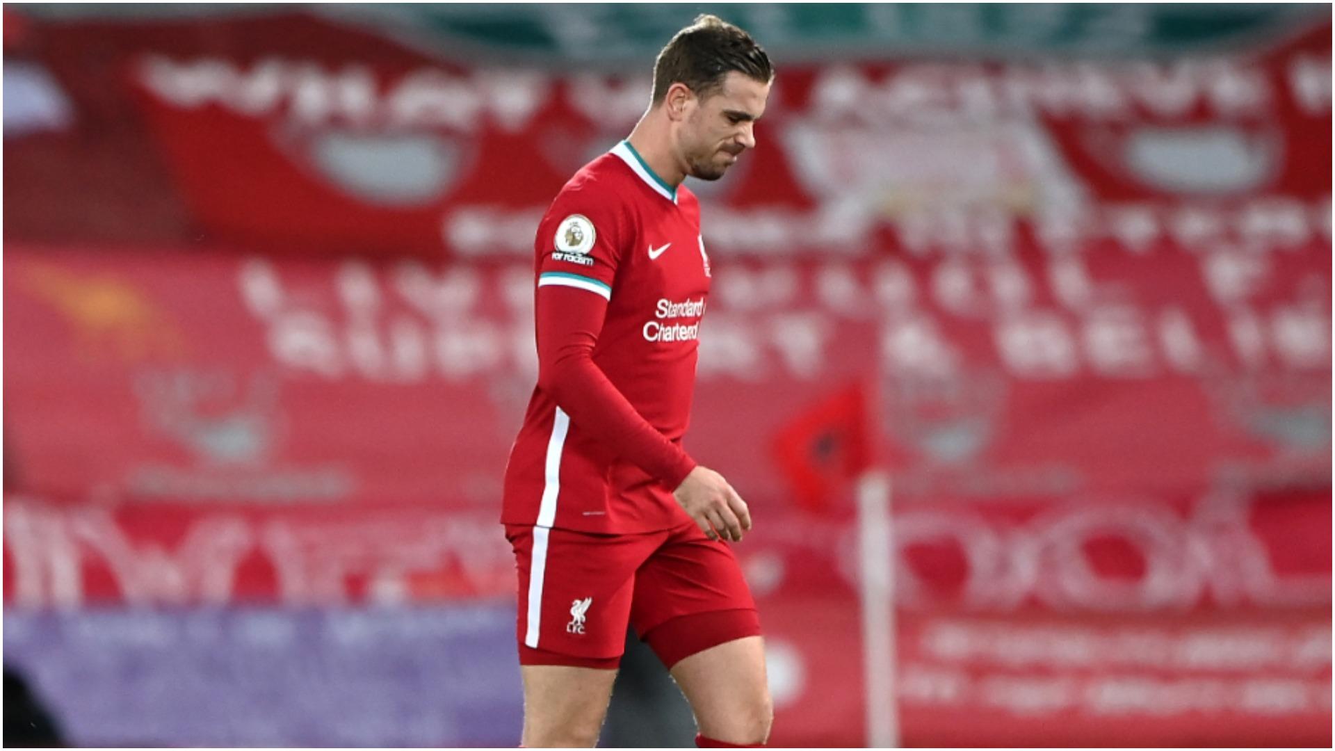 Liverpool captain Henderson out until April following surgery