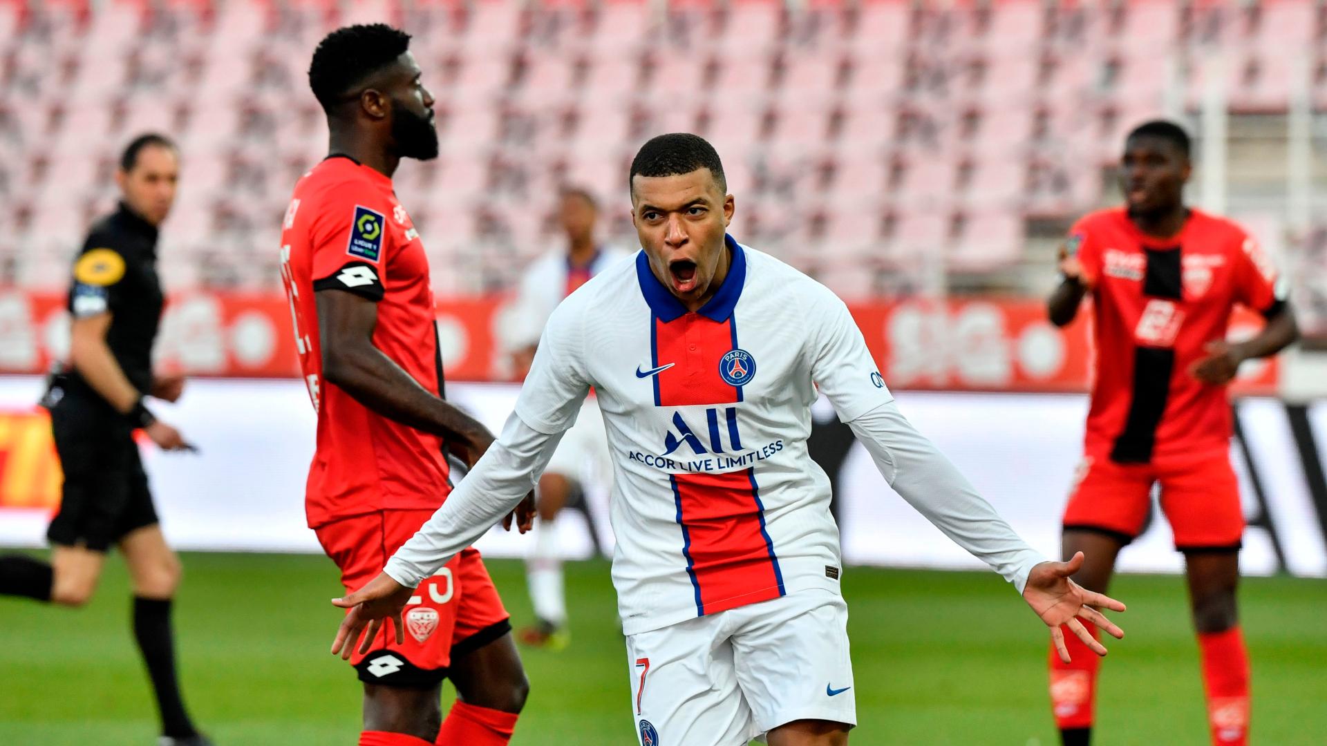 Dijon 0-4 Paris Saint-Germain: Mbappe double helps get Pochettino's men back on track