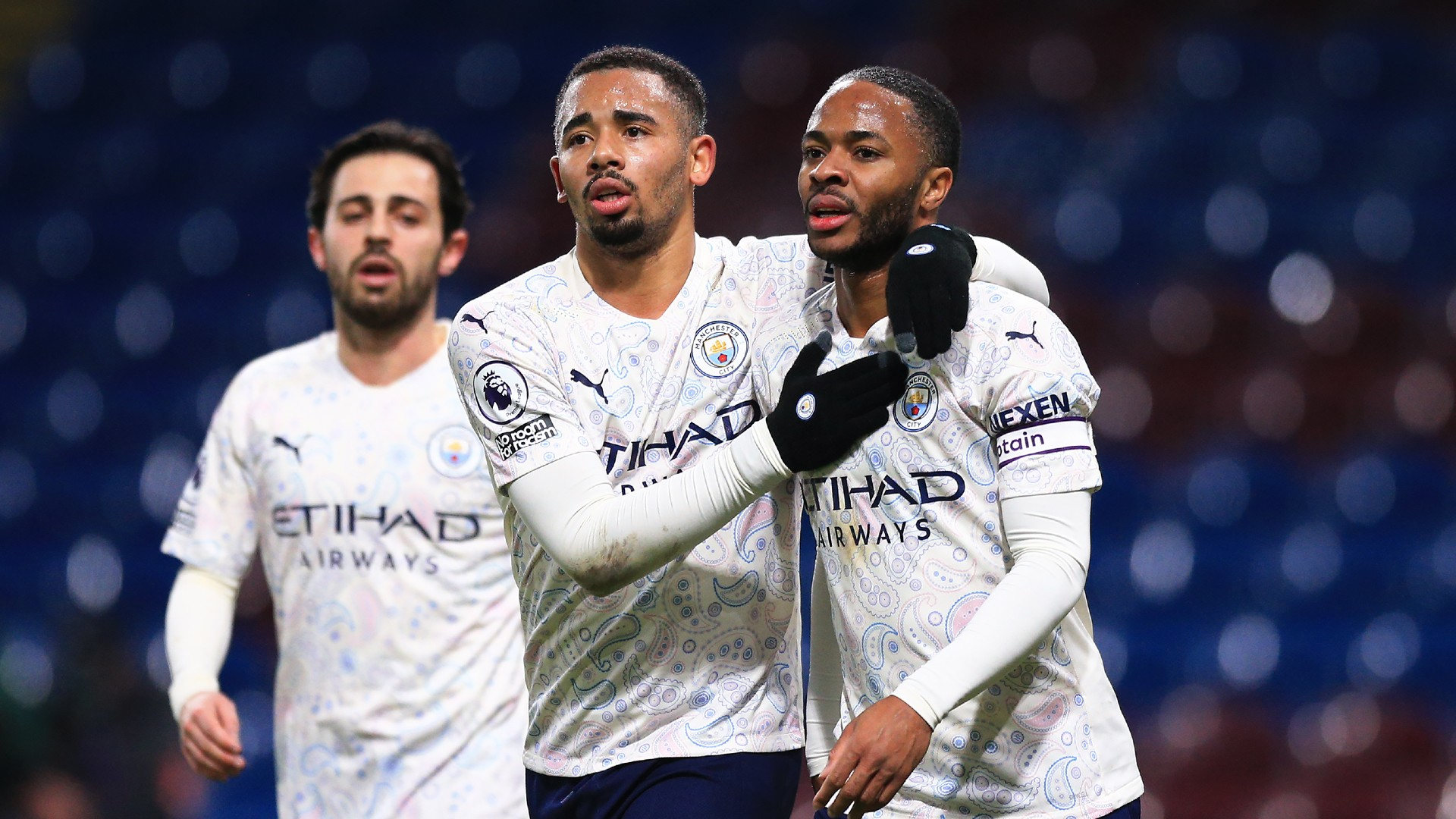Burnley 0-2 Manchester City: Jesus and Sterling on target as leaders march on