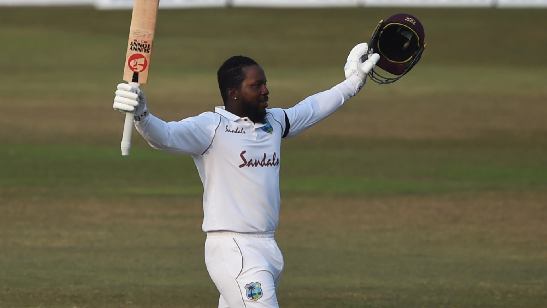Magnificent Mayers revels in unbeaten double century on debut after writing Test history