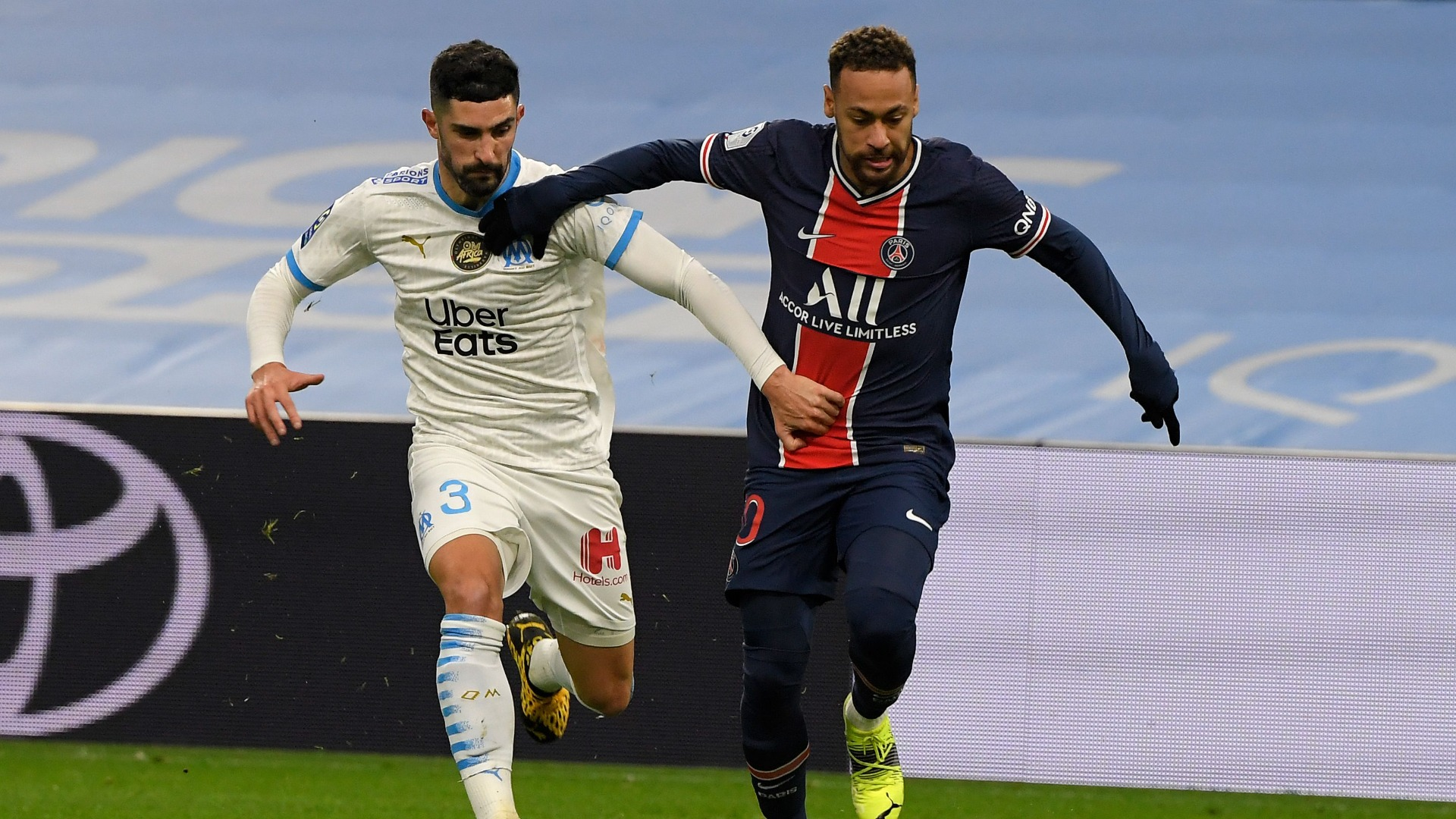 Marseille 0-2 Paris Saint-Germain: No Classique repeat as champions win milestone match