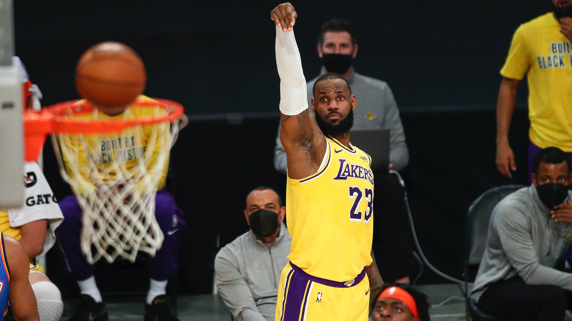 LeBron in triple-double display as Lakers win in OT, LaMelo Ball joins special company
