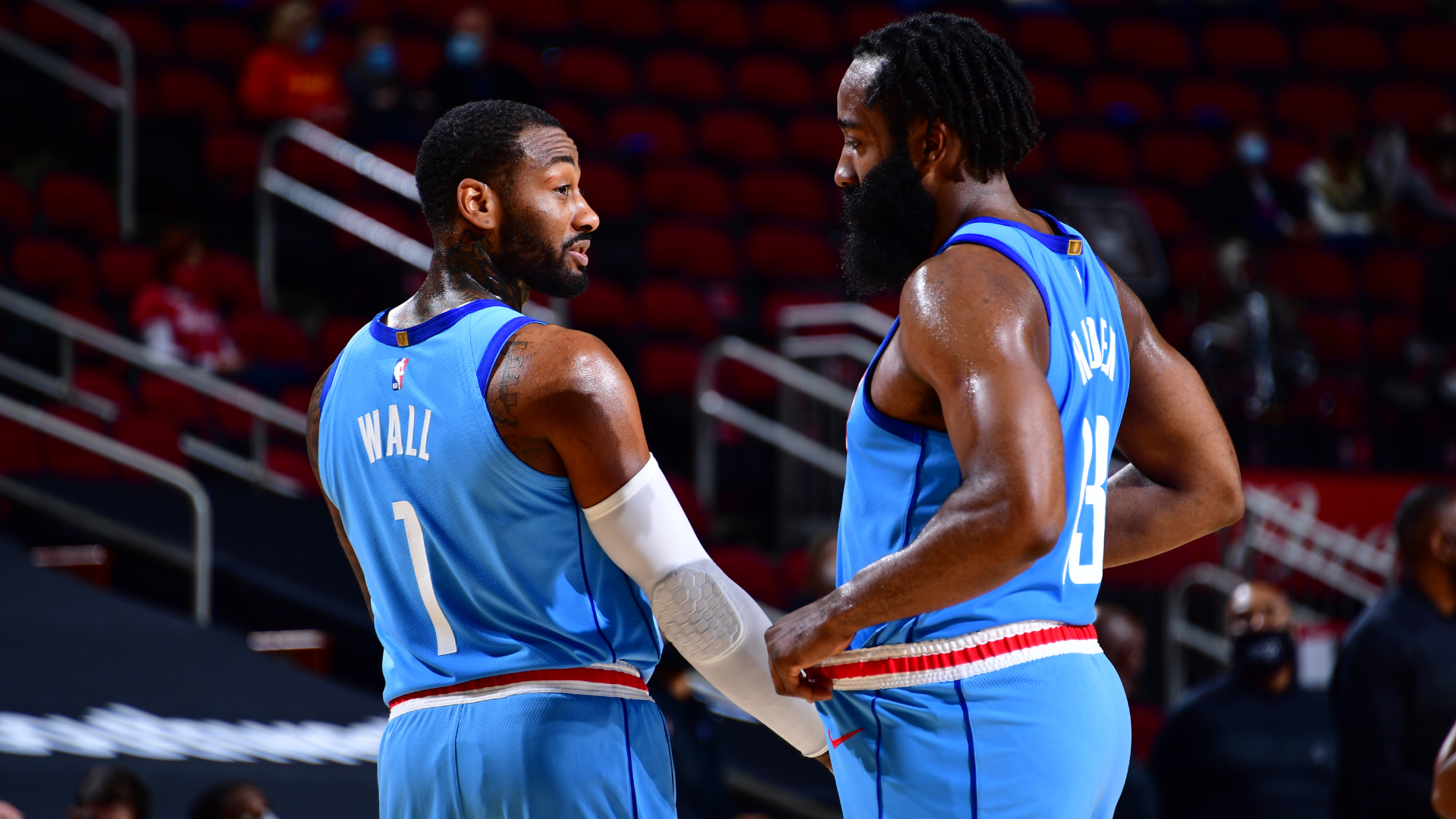 It was cool – Wall enjoys Harden connection in Rockets debut