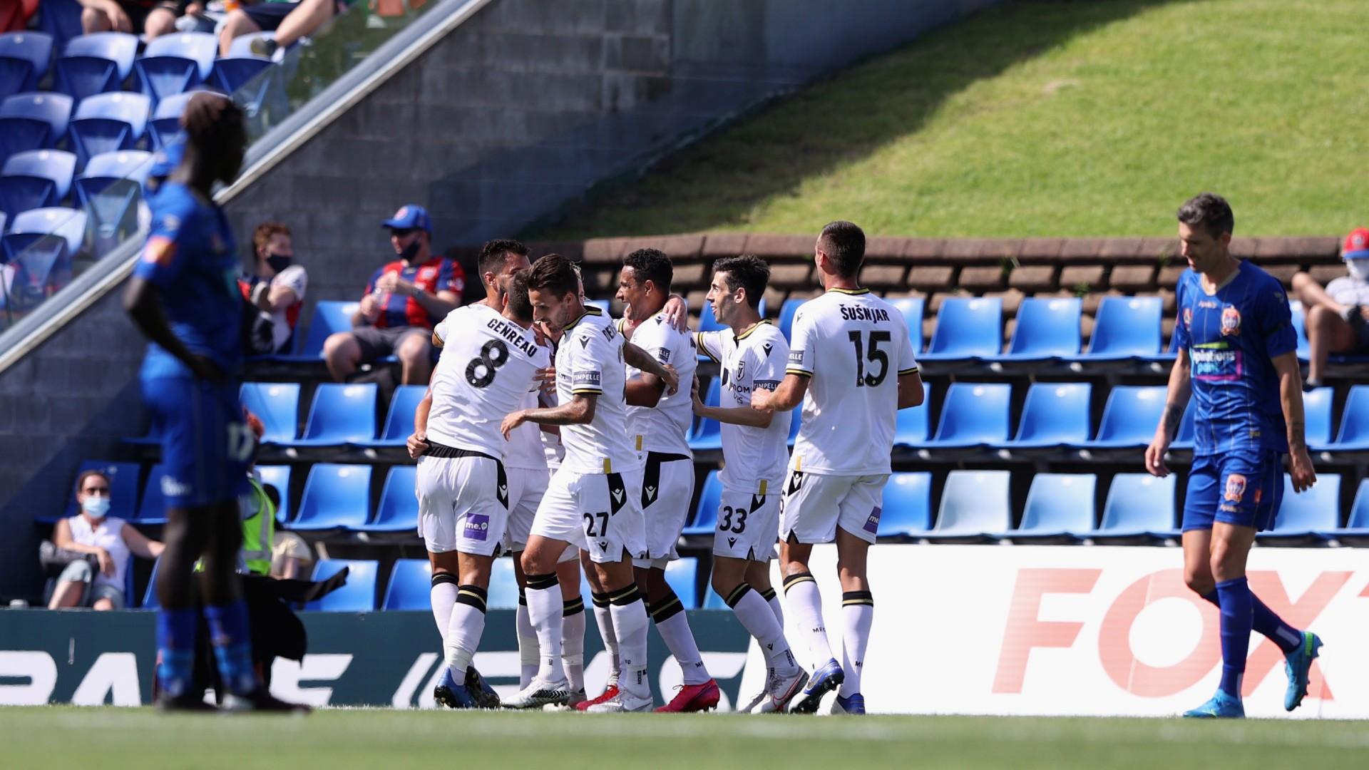 Newcastle Jets 1-2 Macathur: A-League new boys go top
