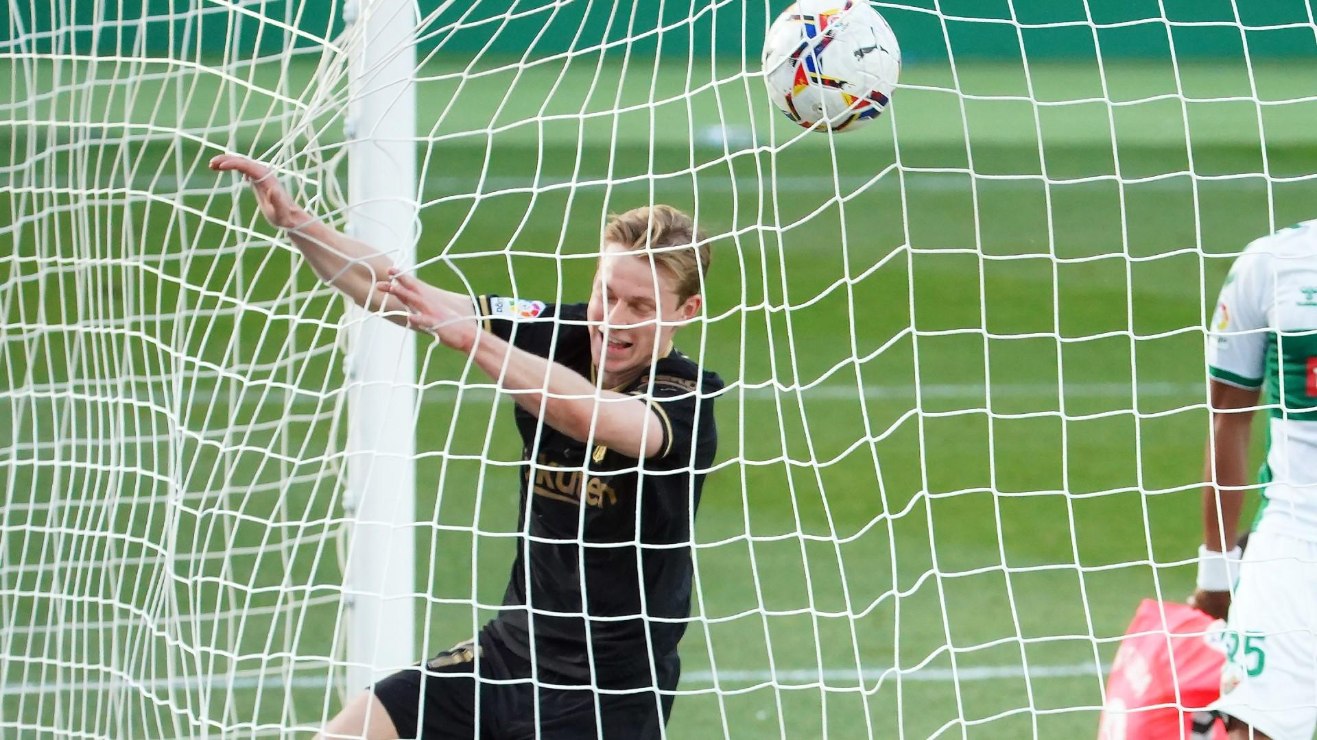 Elche 0-2 Barcelona: De Jong keeps Koeman's men in title hunt