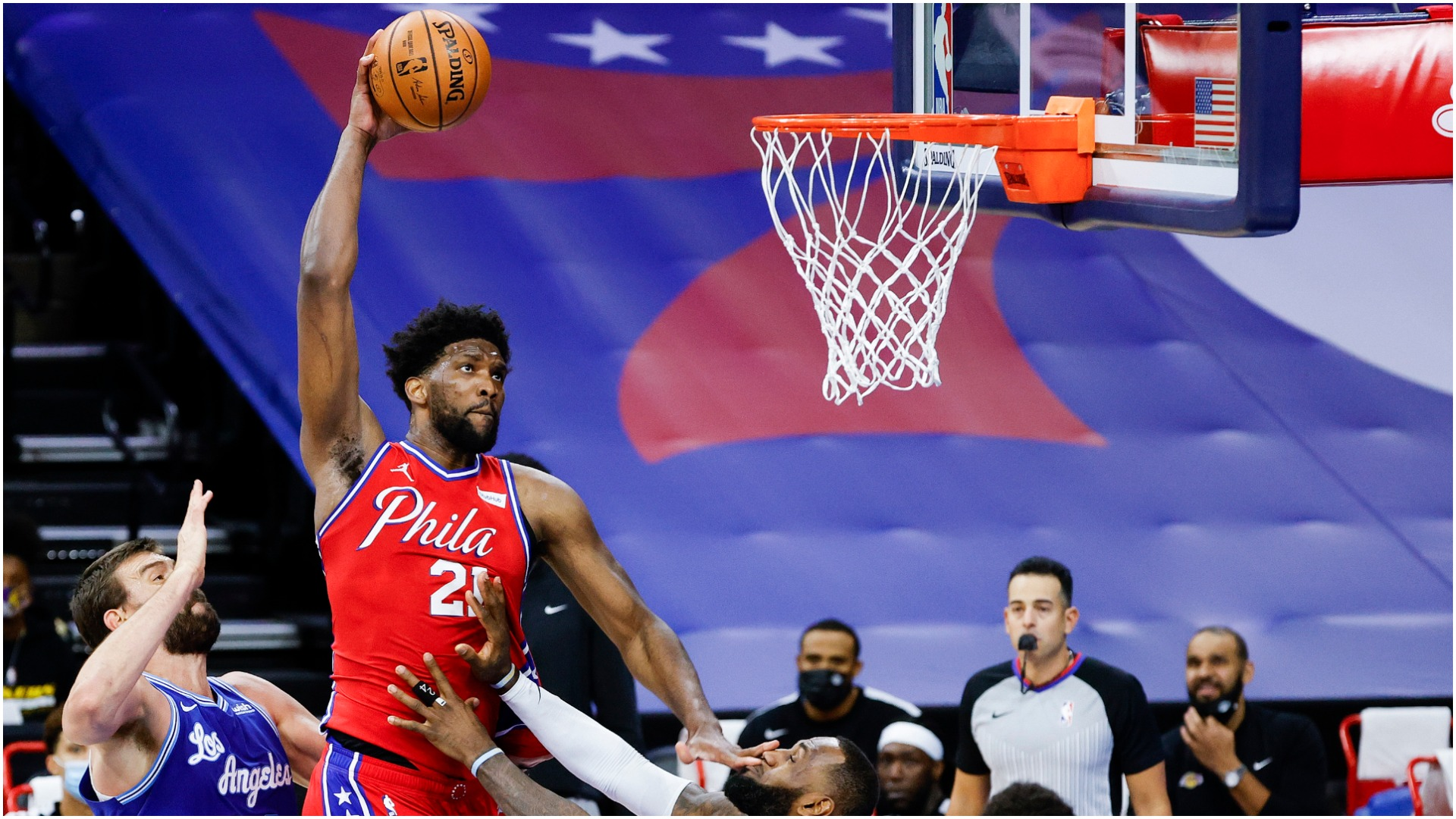 Embiid wanted LeBron ejected as 76ers edge out Lakers