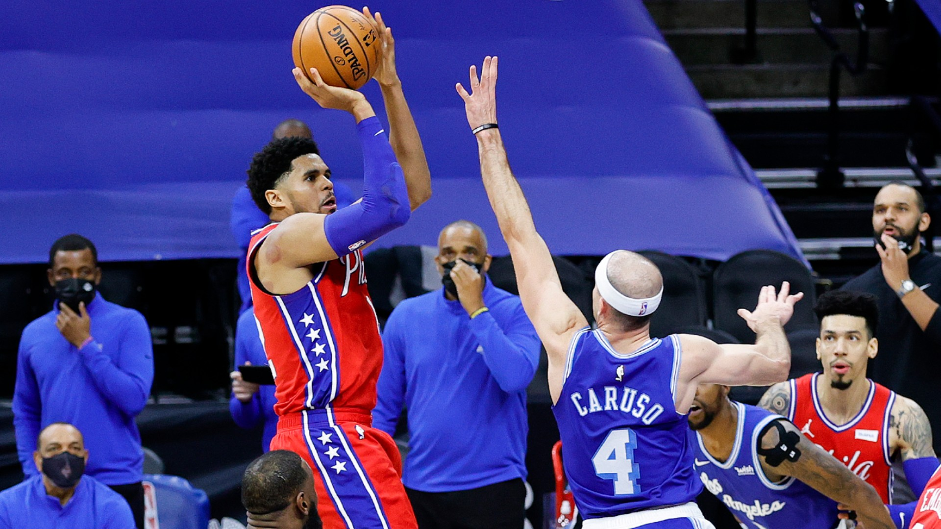76ers snap Lakers' perfect away record in thriller as Harden, Durant and Irving inspire Nets