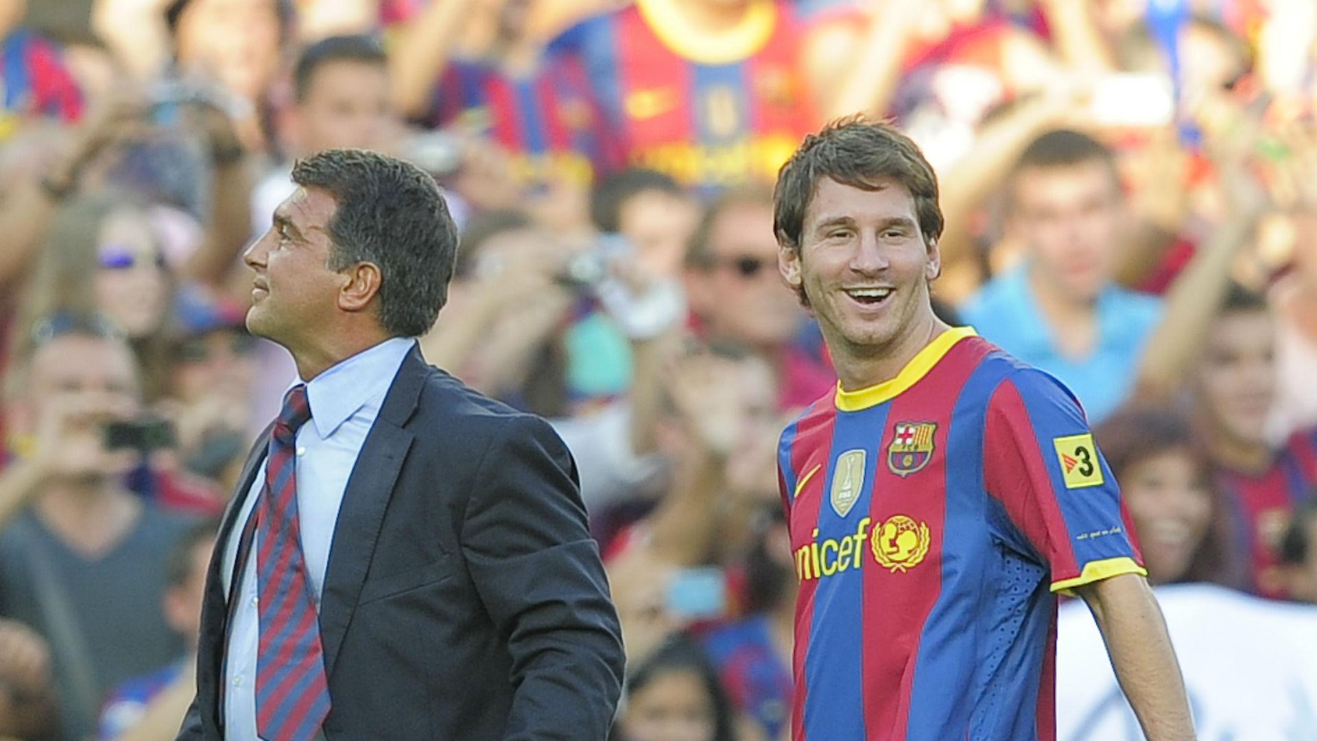 Laporta has 'advantage' in bid to keep Messi at Barca