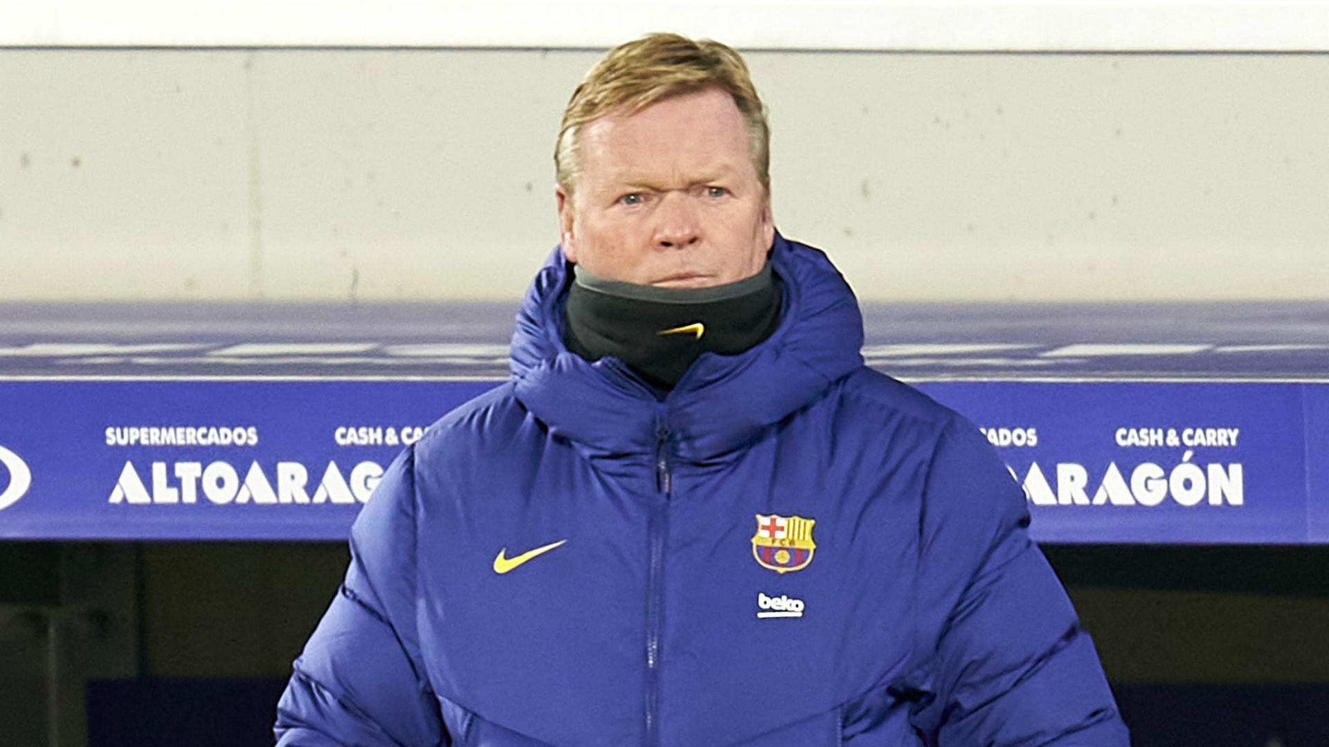 Koeman: Barcelona need a new striker