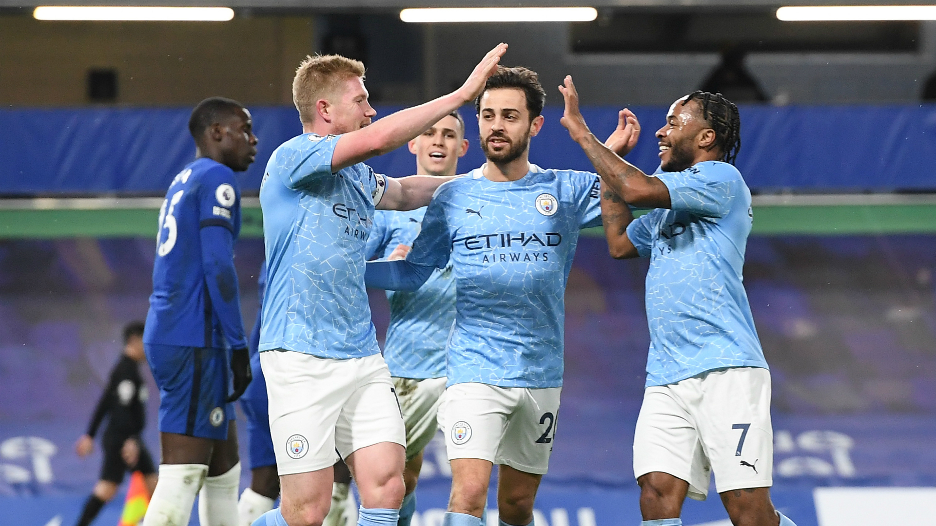 Chelsea 1-3 Manchester City: De Bruyne stars as Guardiola's side cruise to victory