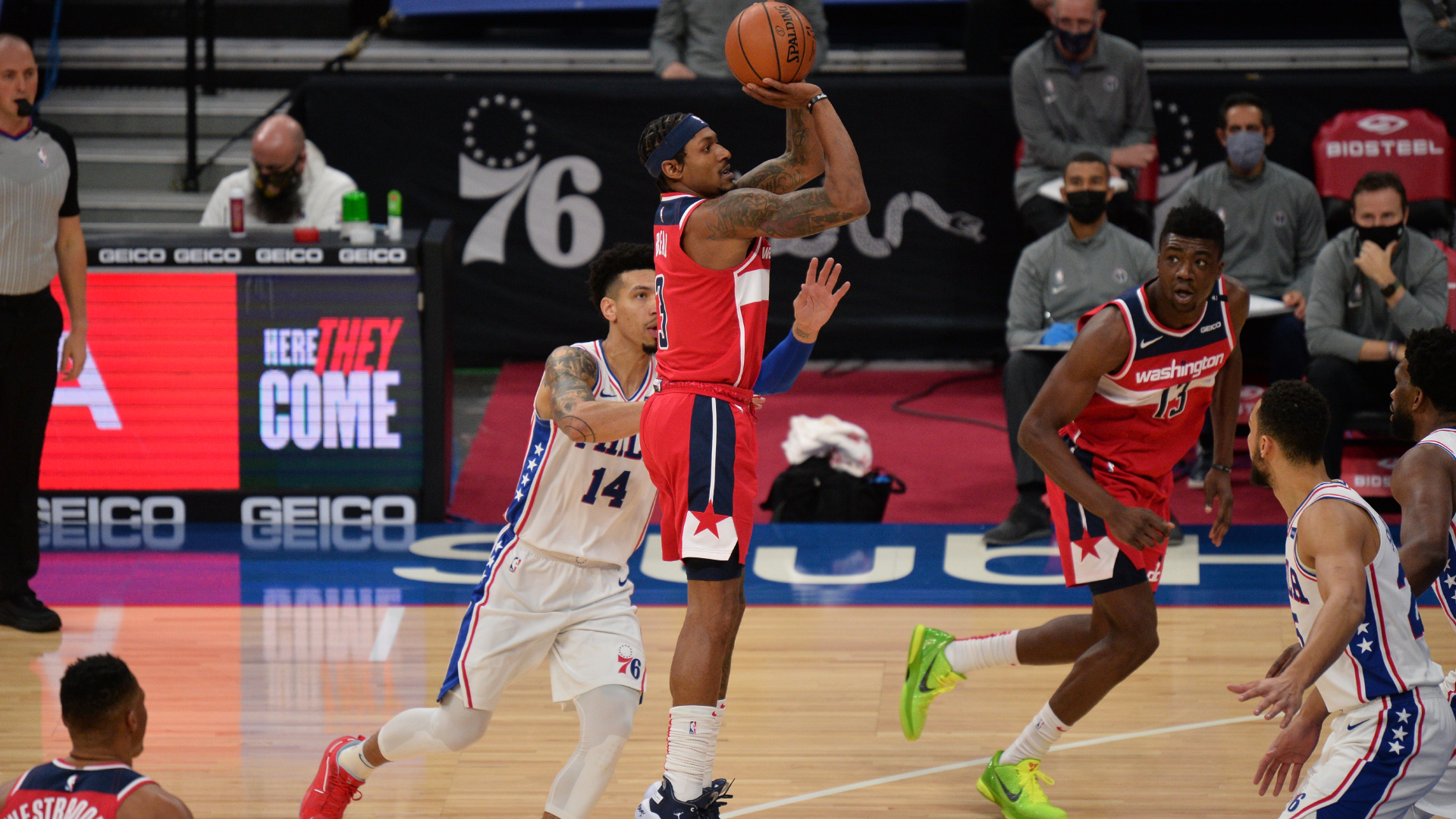Beal equals Wizards' franchise record with 60 points in loss to 76ers