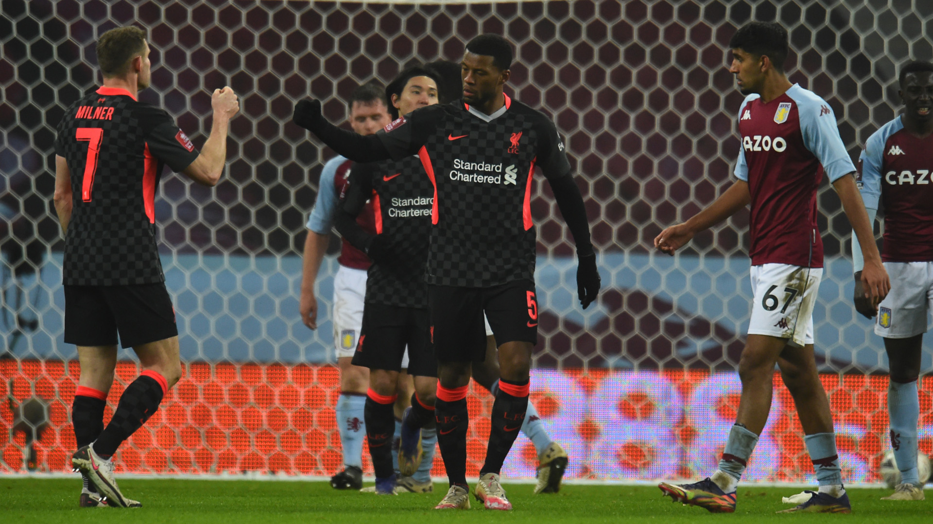 Aston Villa 1-4 Liverpool: Reds survive scare from youthful hosts