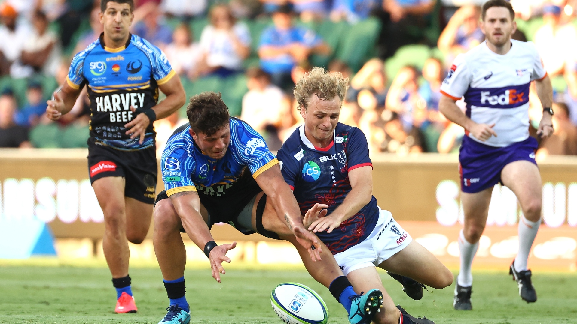 Western Force 7-10 Rebels: Visitors hold on for first win despite red card