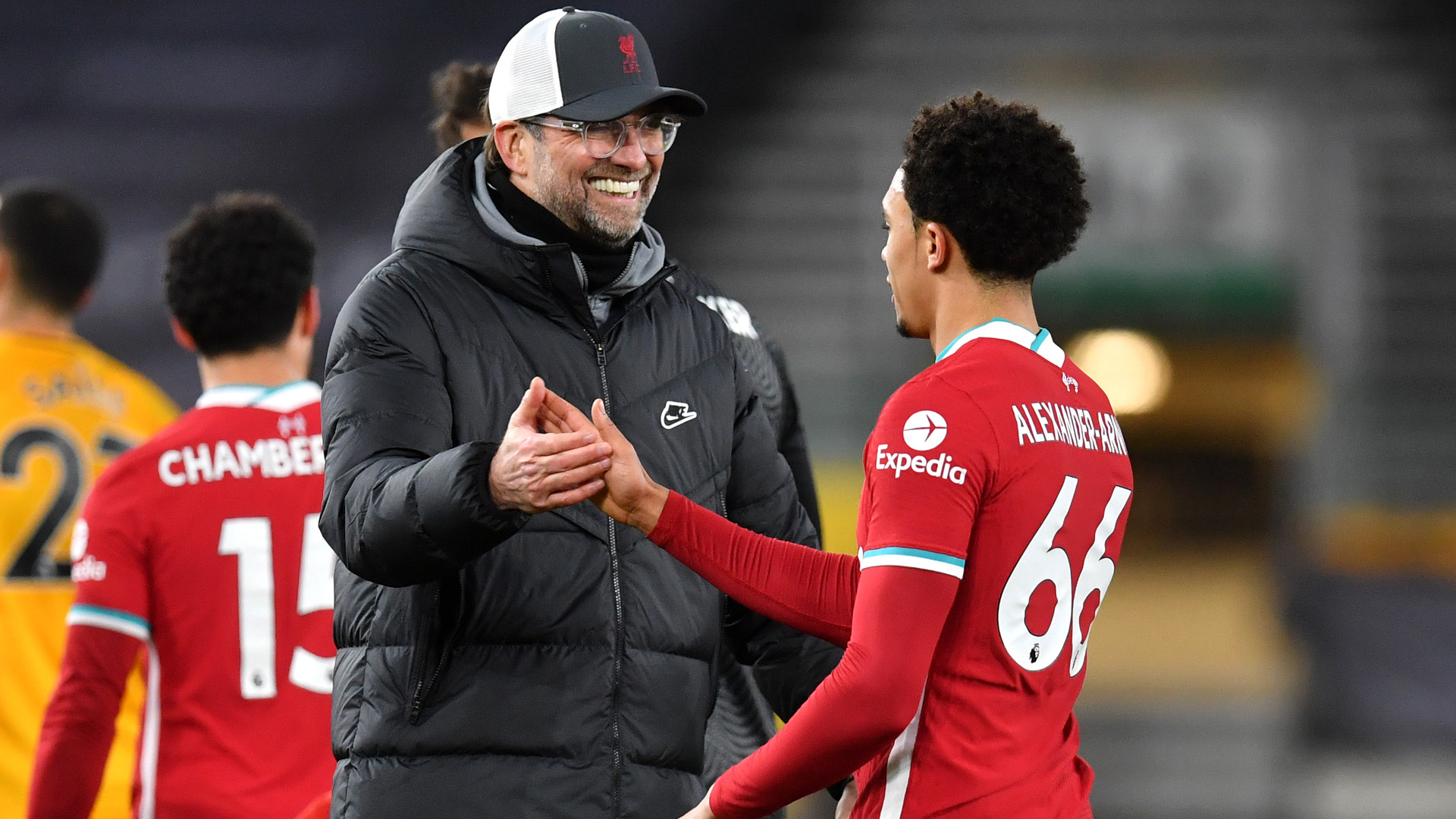 Klopp hails 'three dirty points' and Jota goal after Liverpool beat Wolves