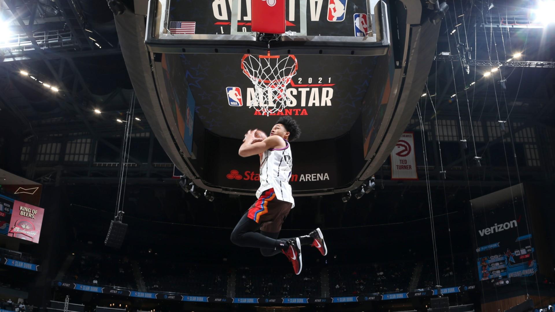 All-Star Game: Trail Blazers' Simons wins Slam Dunk Contest