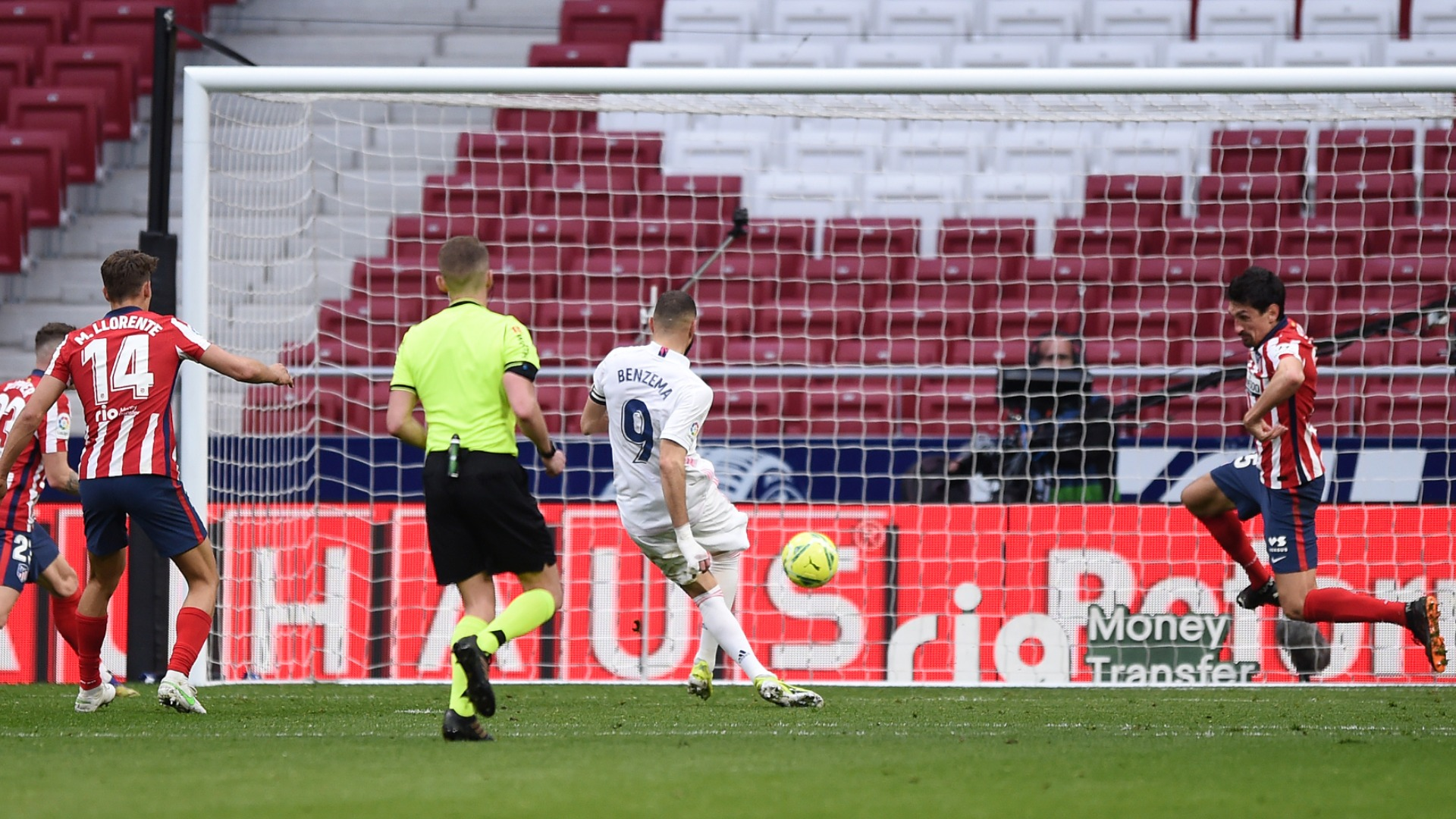 Atletico Madrid 1-1 Real Madrid: Benzema leaves it late as leaders' wait for Derbi win goes on