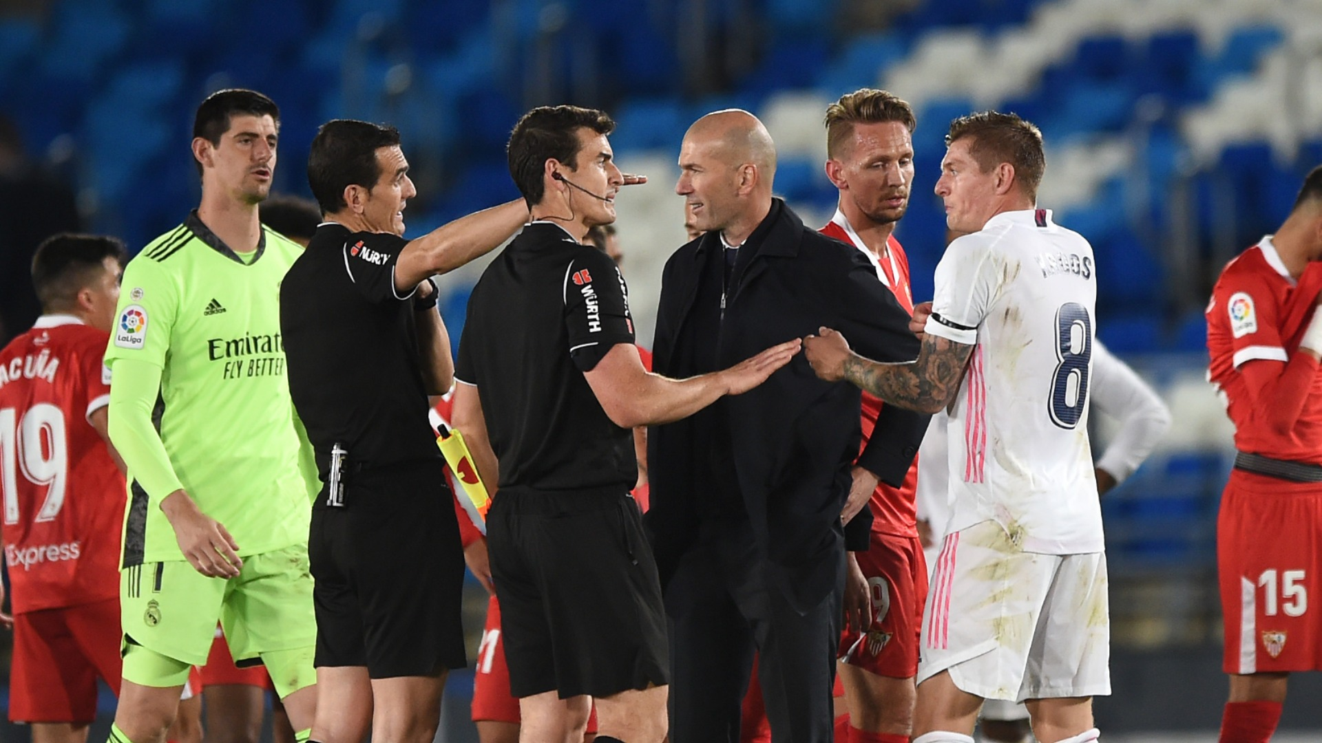 Zidane fumes at Sevilla penalty: I'm angry, I don't understand anything